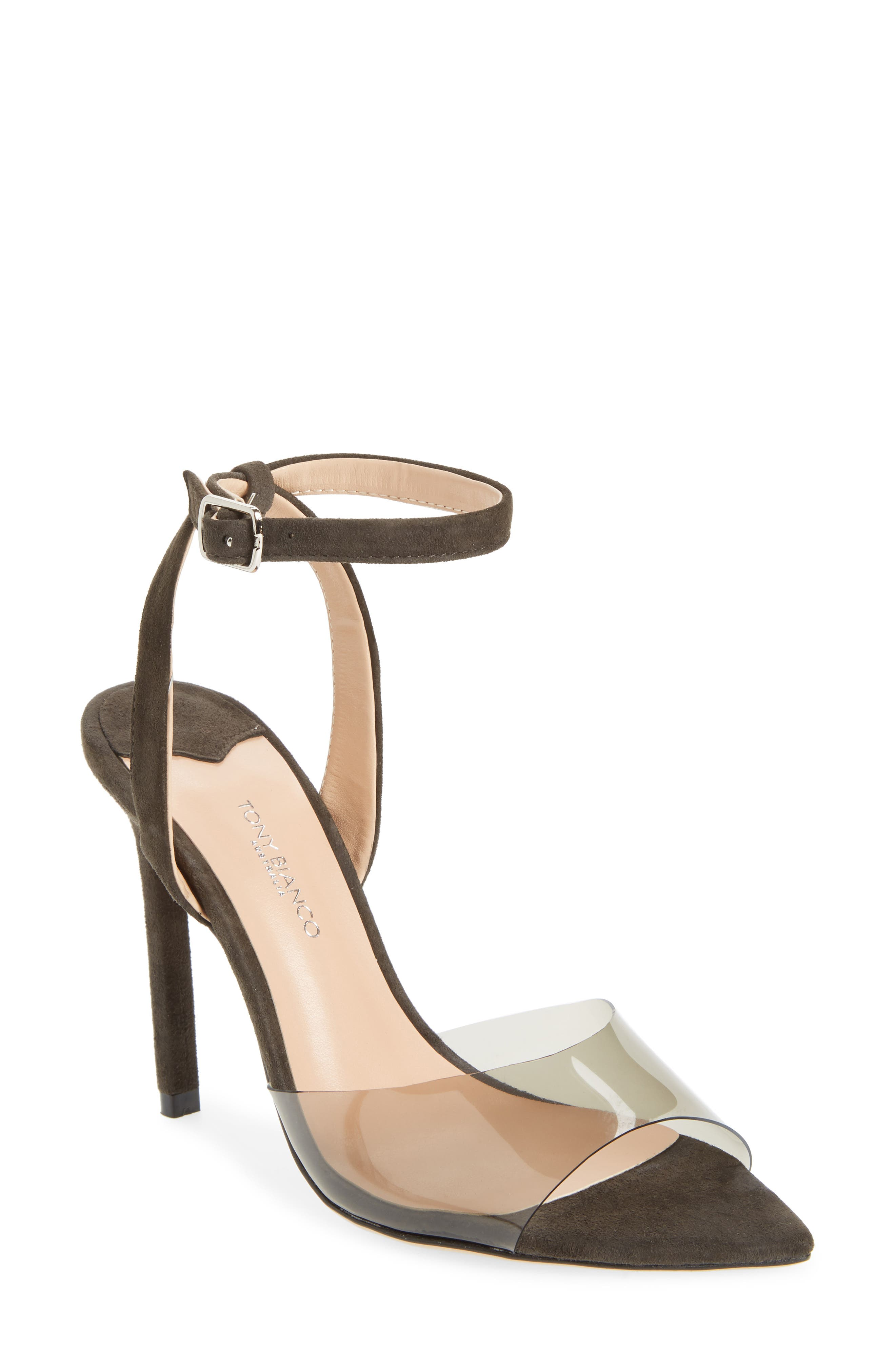 Maxime Sandal,                         Main,                         color, SMOKE / LICORICE SUEDE