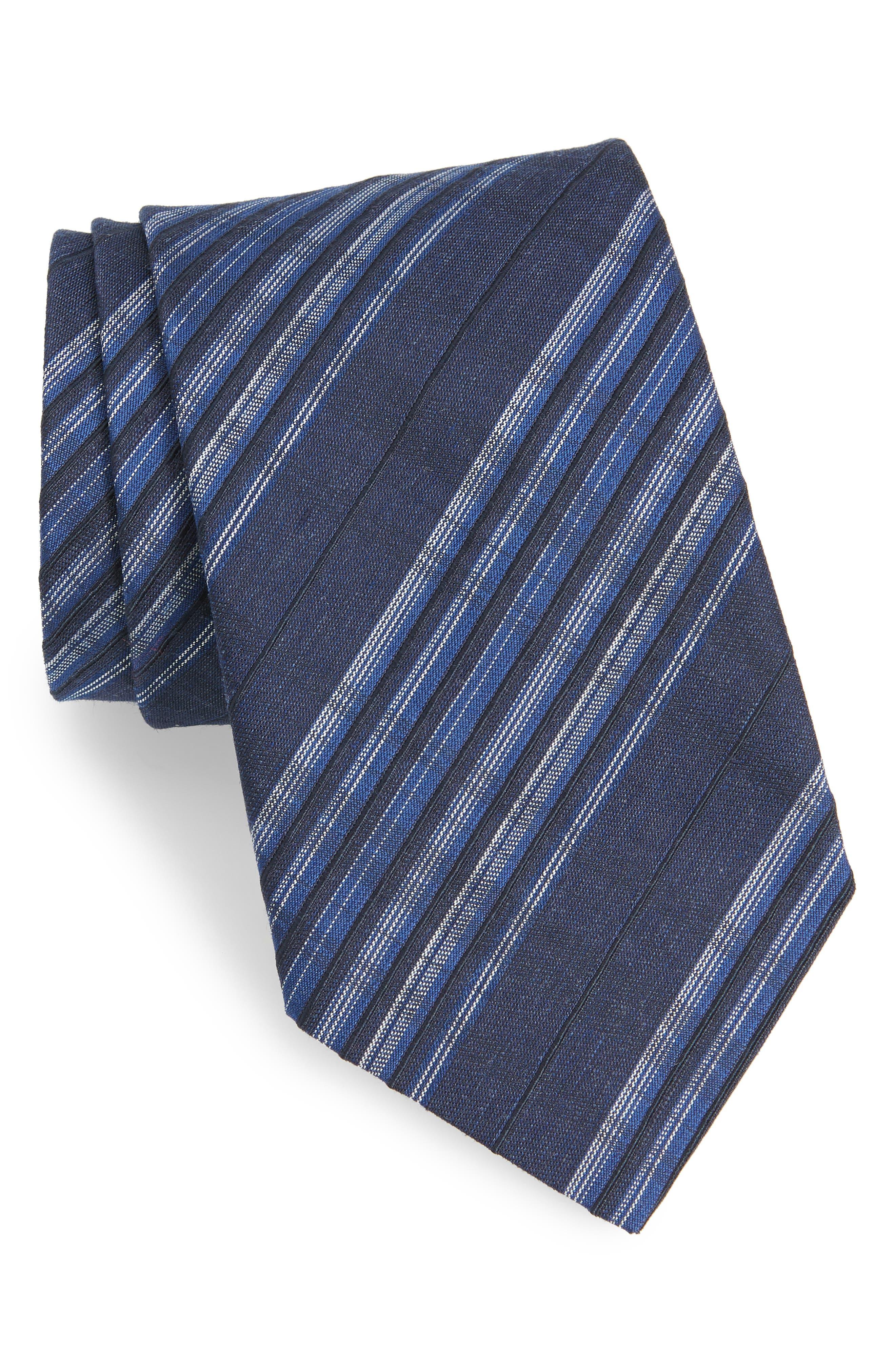 Plaid Silk Tie,                             Main thumbnail 1, color,                             404