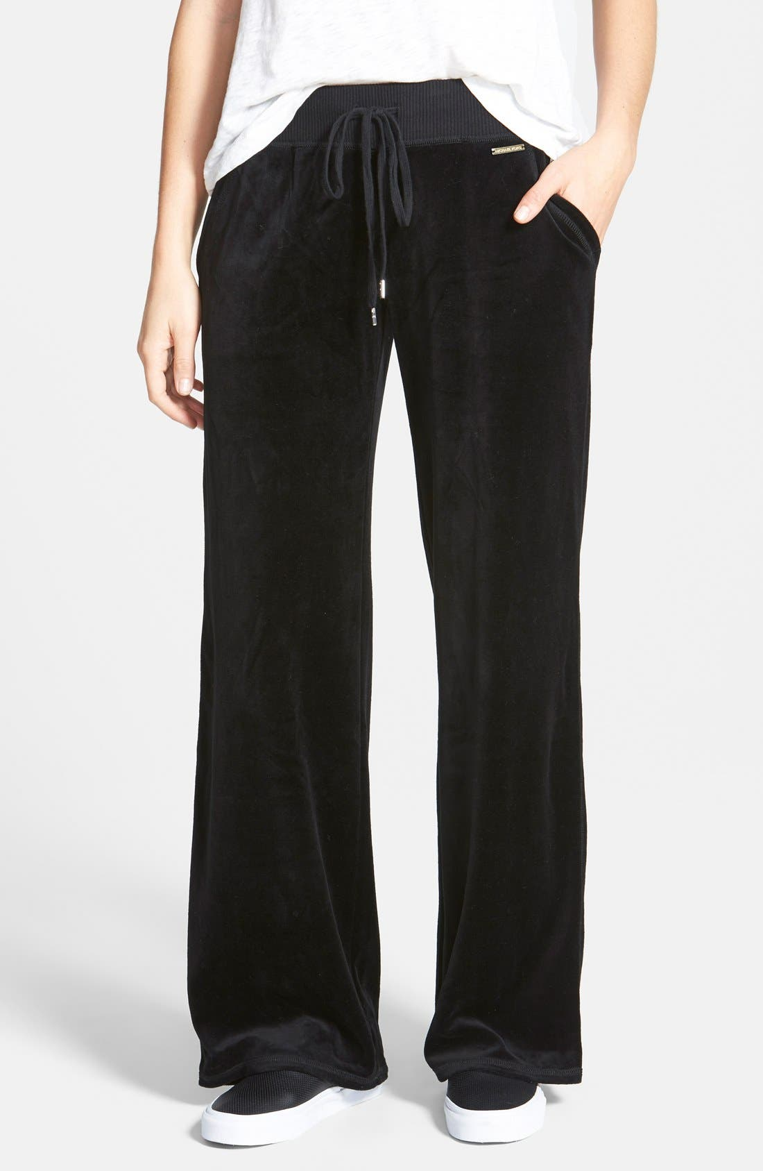 Pull-On Velour Pants, Main, color, 002