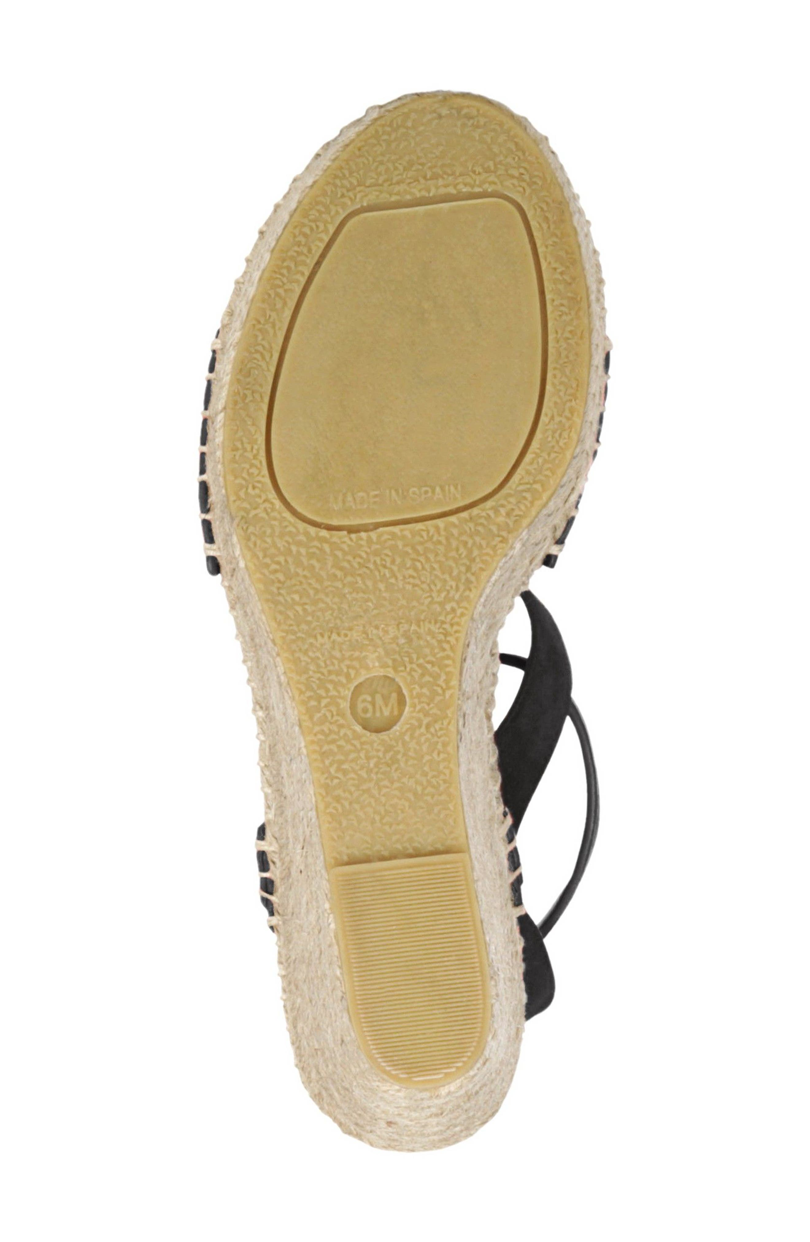 VIA SPIGA,                             Nevada Espadrille Wedge Sandal,                             Alternate thumbnail 6, color,                             002