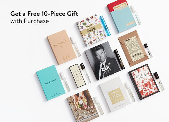 Free 10-piece gift with purchase.
