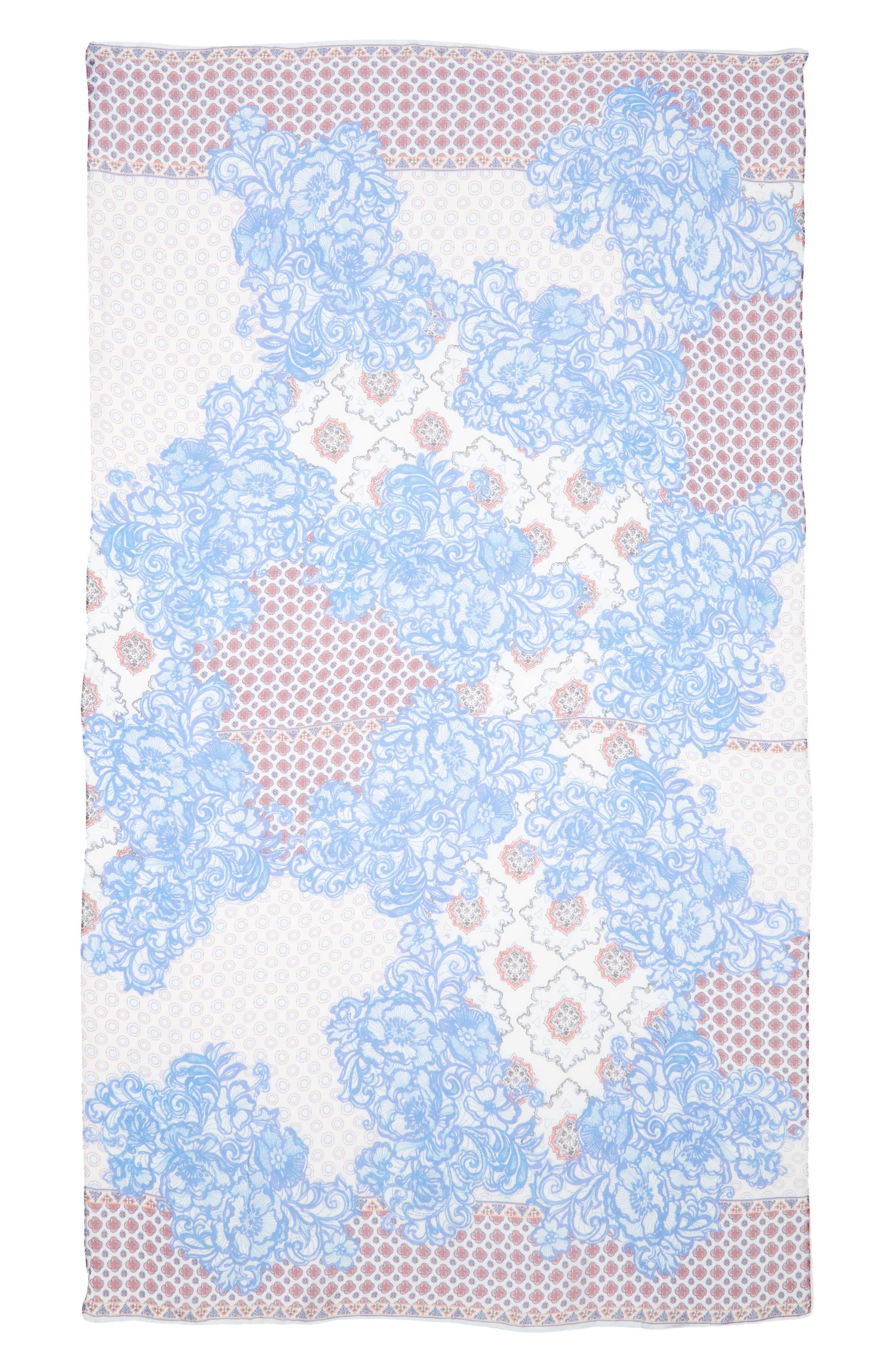 Silk Chiffon Oblong Scarf,                             Alternate thumbnail 30, color,