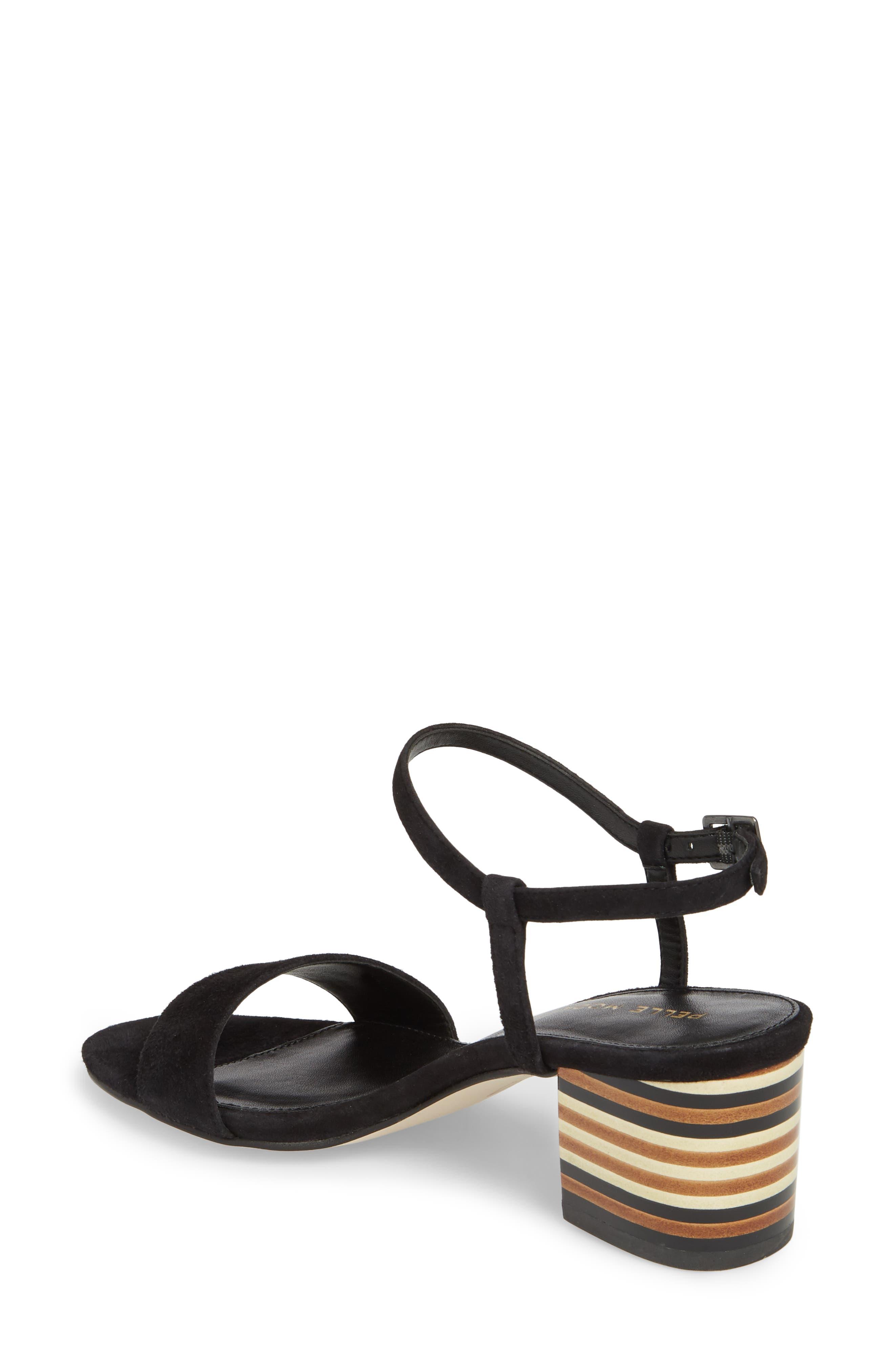Alicia Block Heel Sandal,                             Alternate thumbnail 2, color,                             BLACK SUEDE