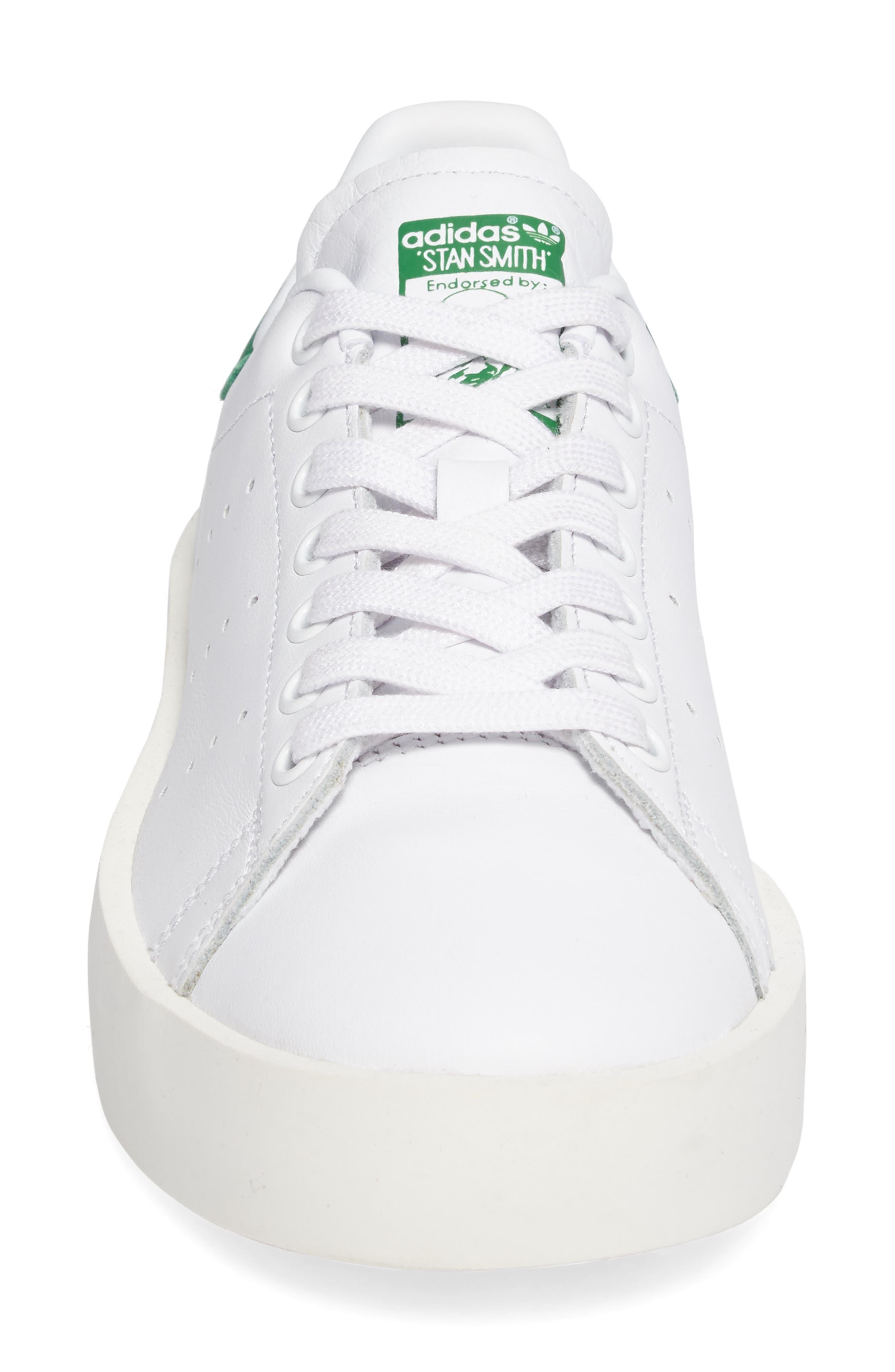 Stan Smith Bold Platform Sneaker,                             Alternate thumbnail 4, color,                             100