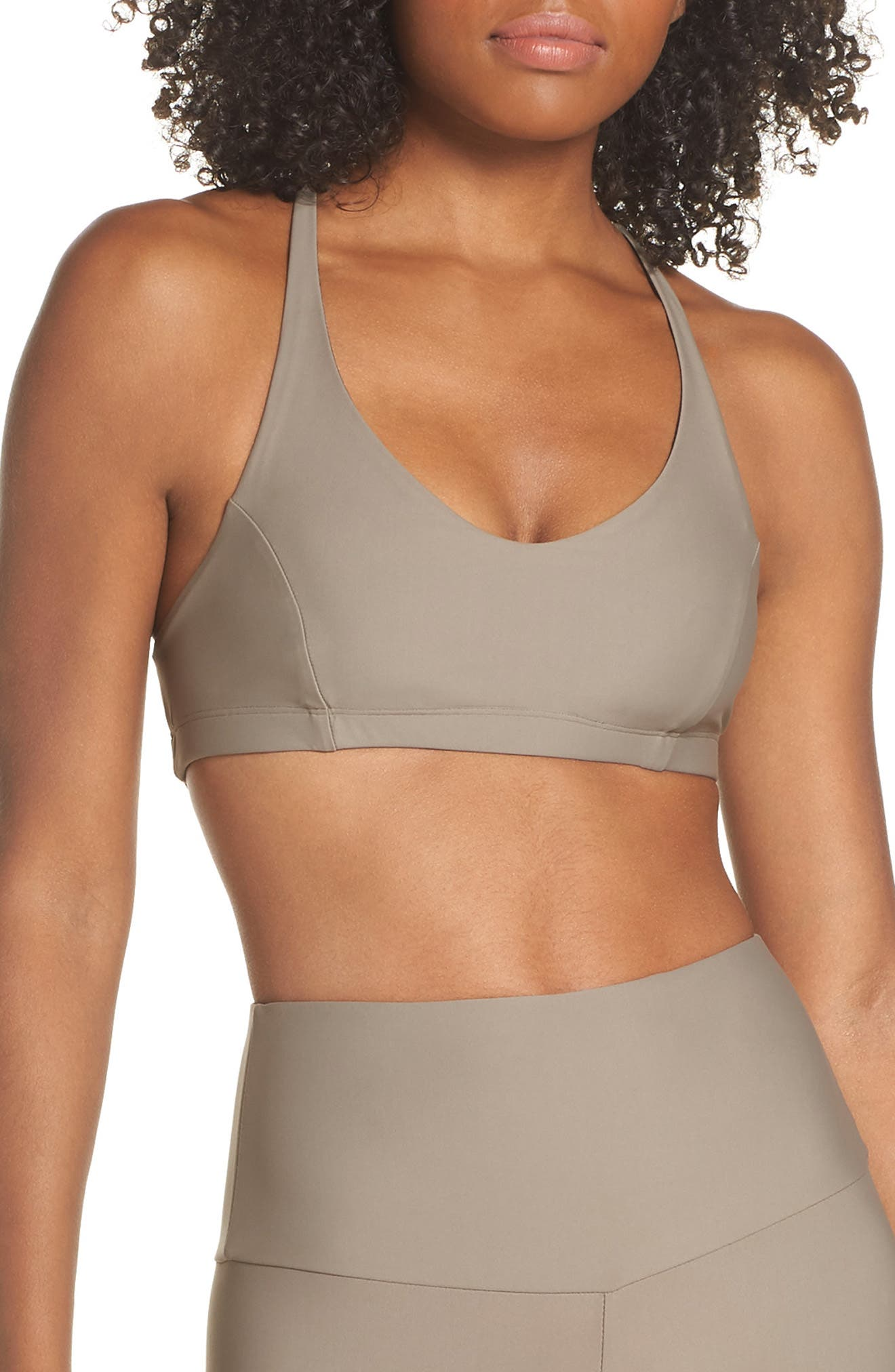 Pyramid Sports Bra,                         Main,                         color, DUST