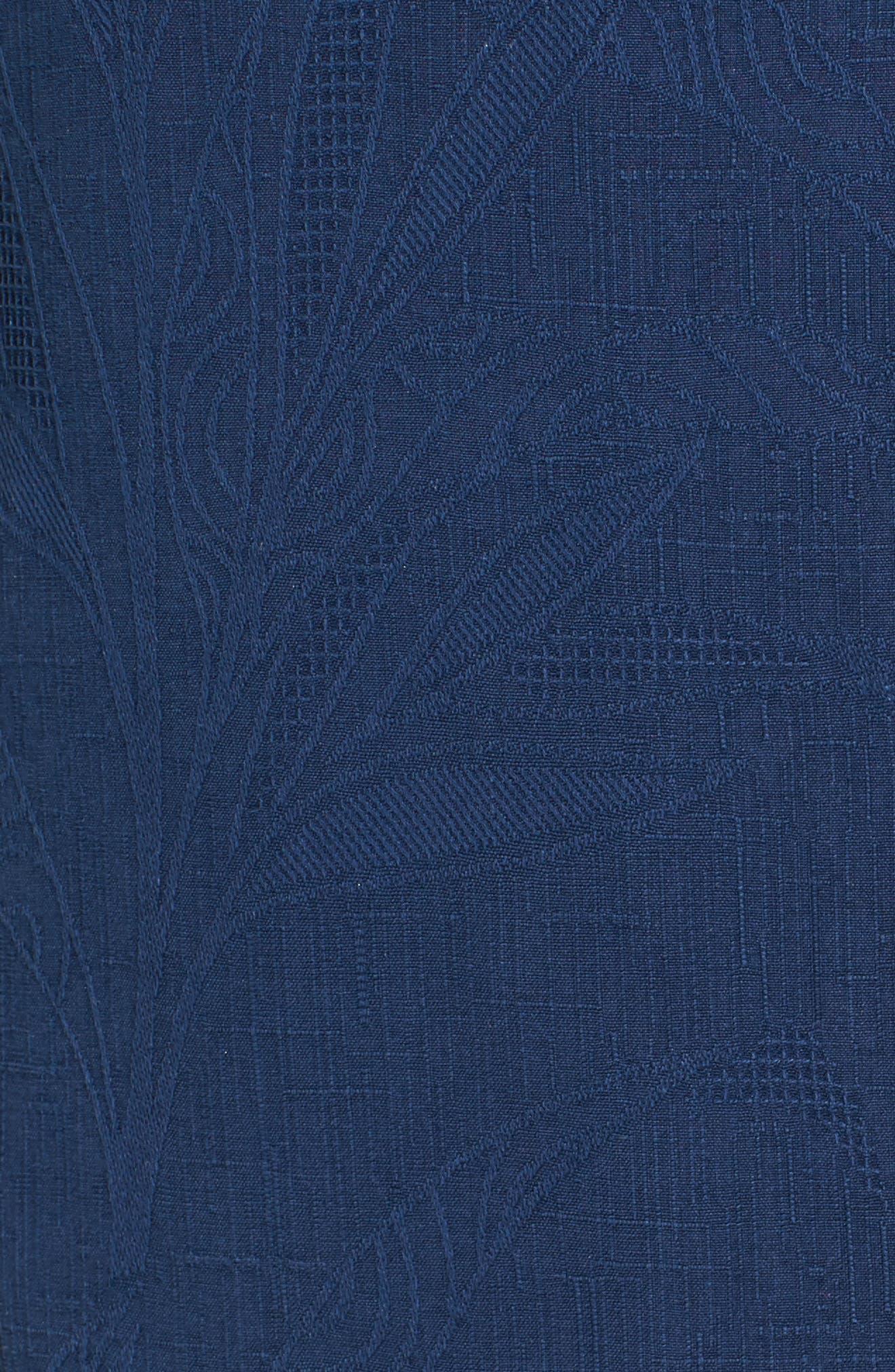 Islander Fronds Silk Camp Shirt,                             Alternate thumbnail 43, color,