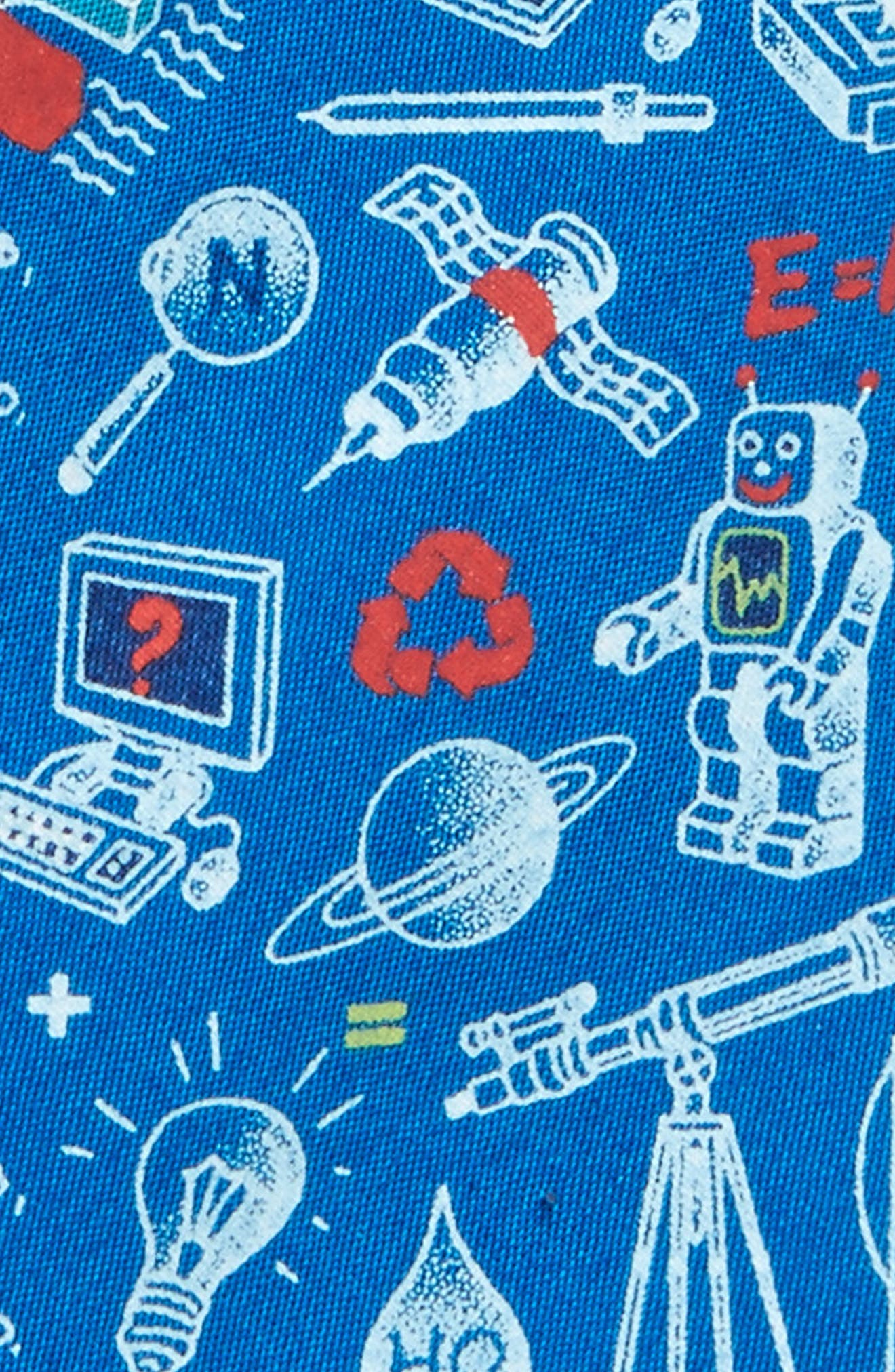 Science Print Cotton Tie,                             Alternate thumbnail 2, color,                             415