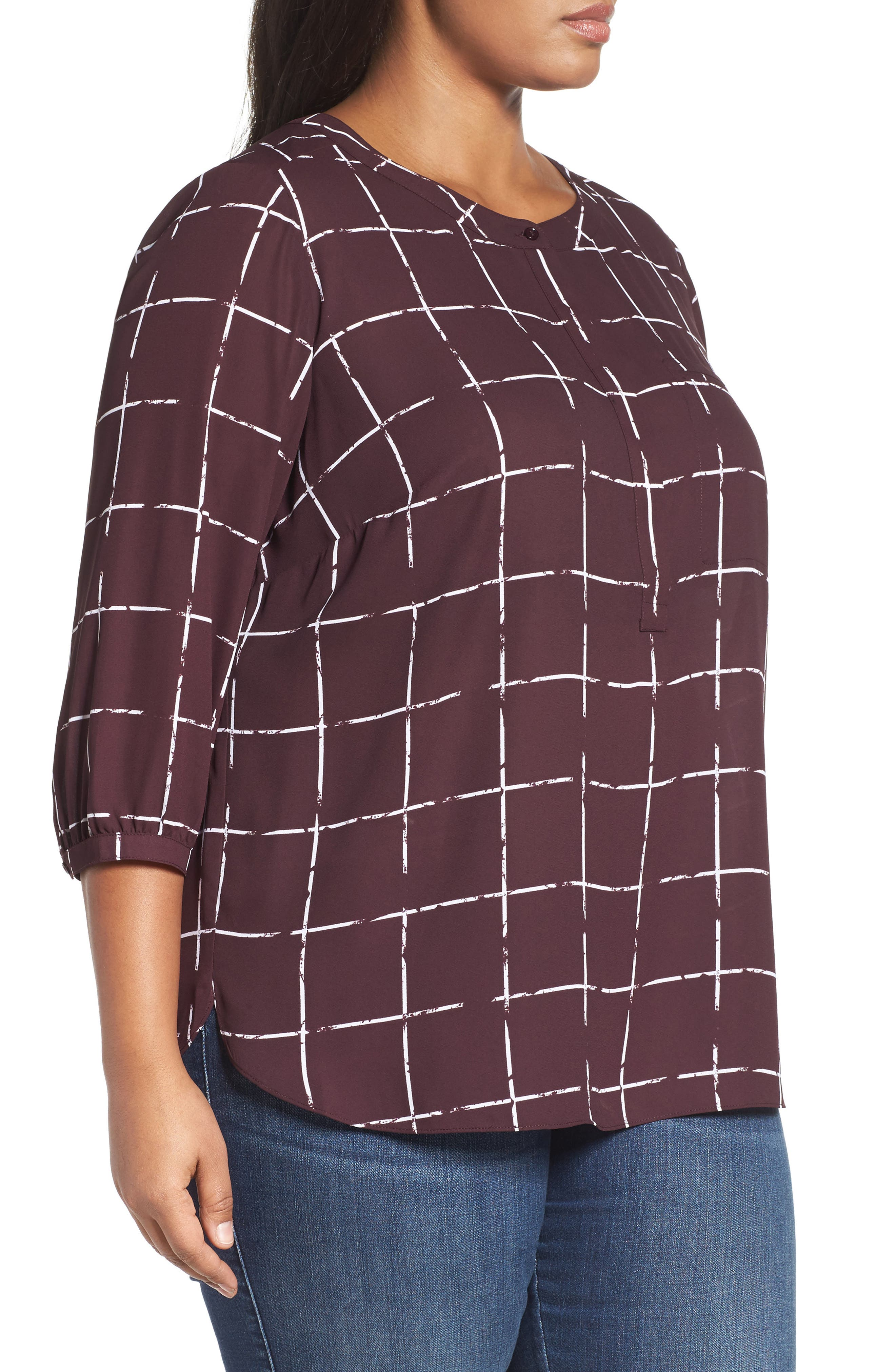 Henley Top,                             Alternate thumbnail 320, color,