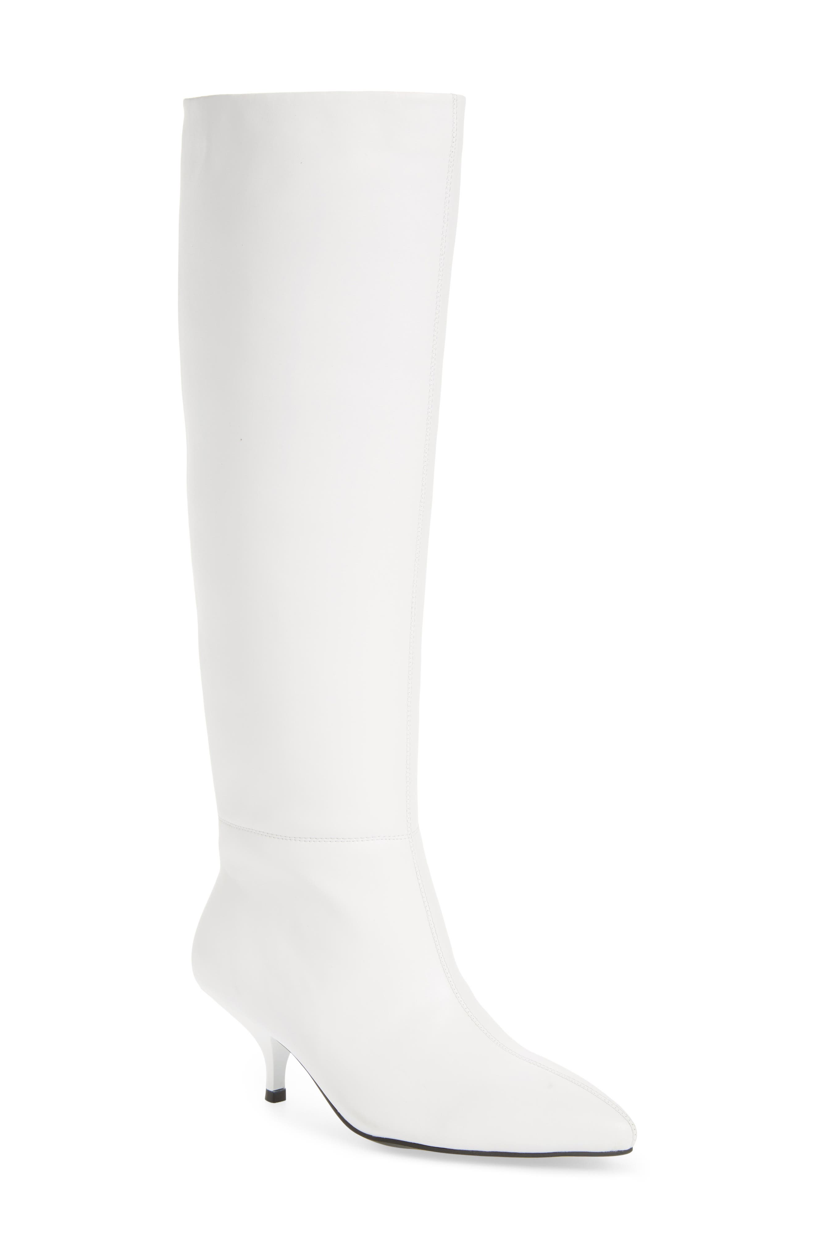 Germany Knee High Boot,                             Main thumbnail 1, color,                             WHITE