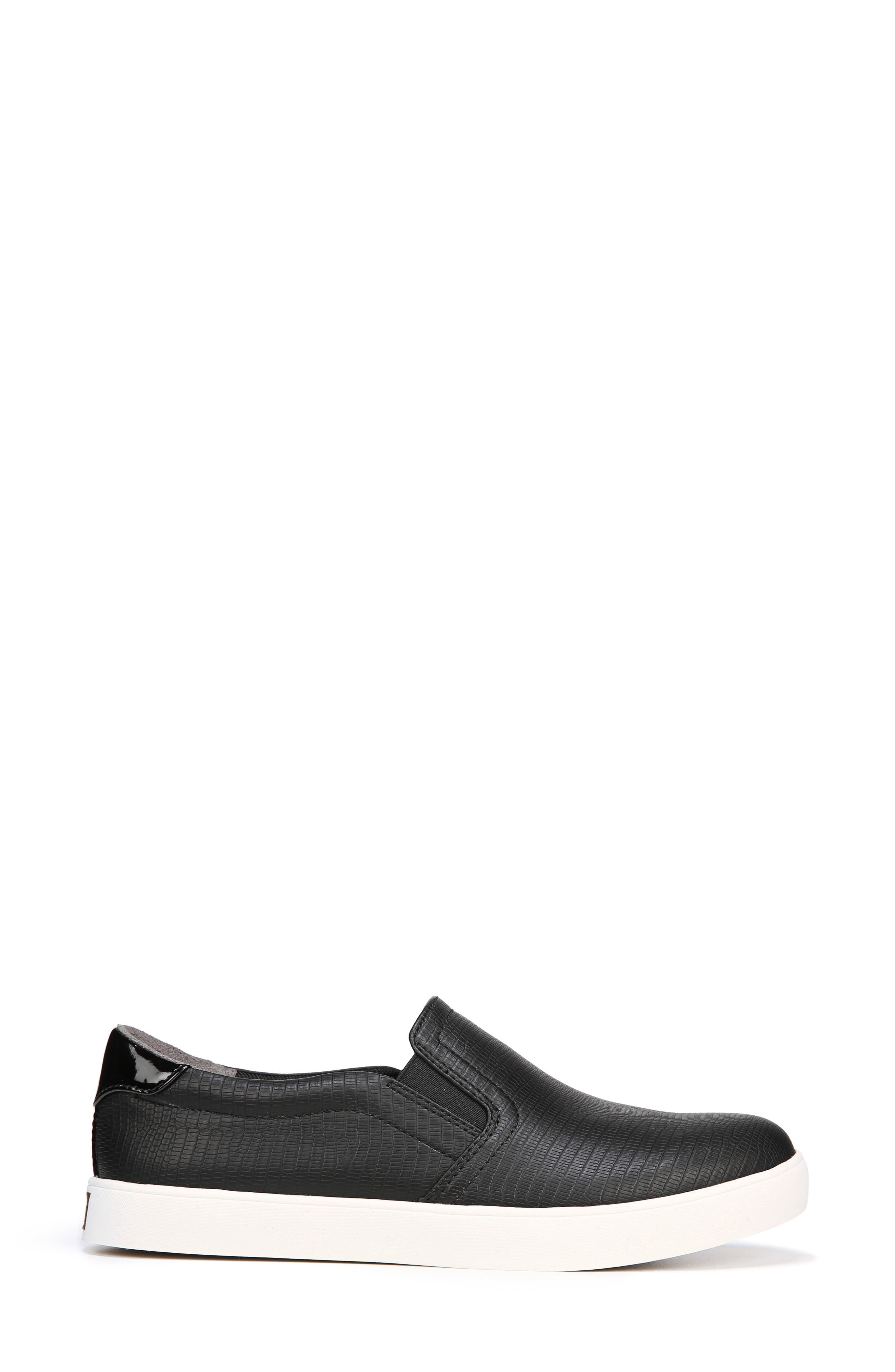 Madison Slip-On Sneaker,                             Alternate thumbnail 2, color,                             BLACK FAUX LEATHER