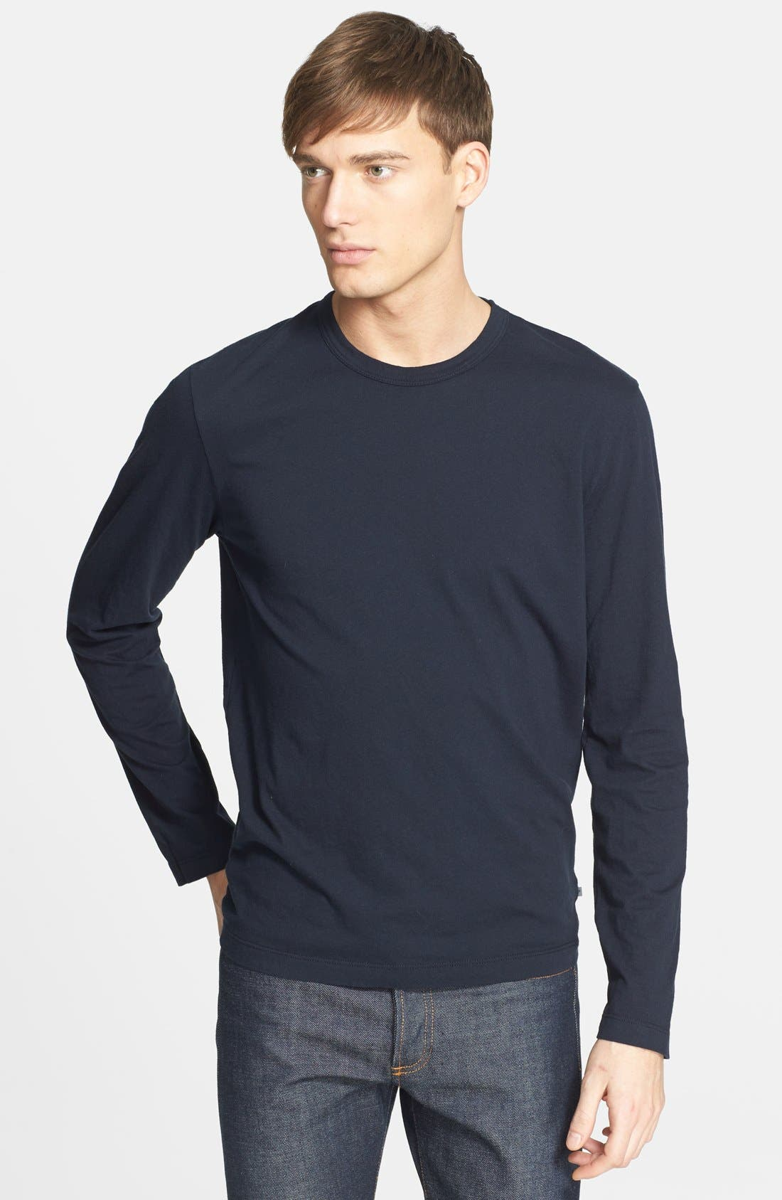 Long Sleeve Crewneck T-Shirt,                             Main thumbnail 7, color,