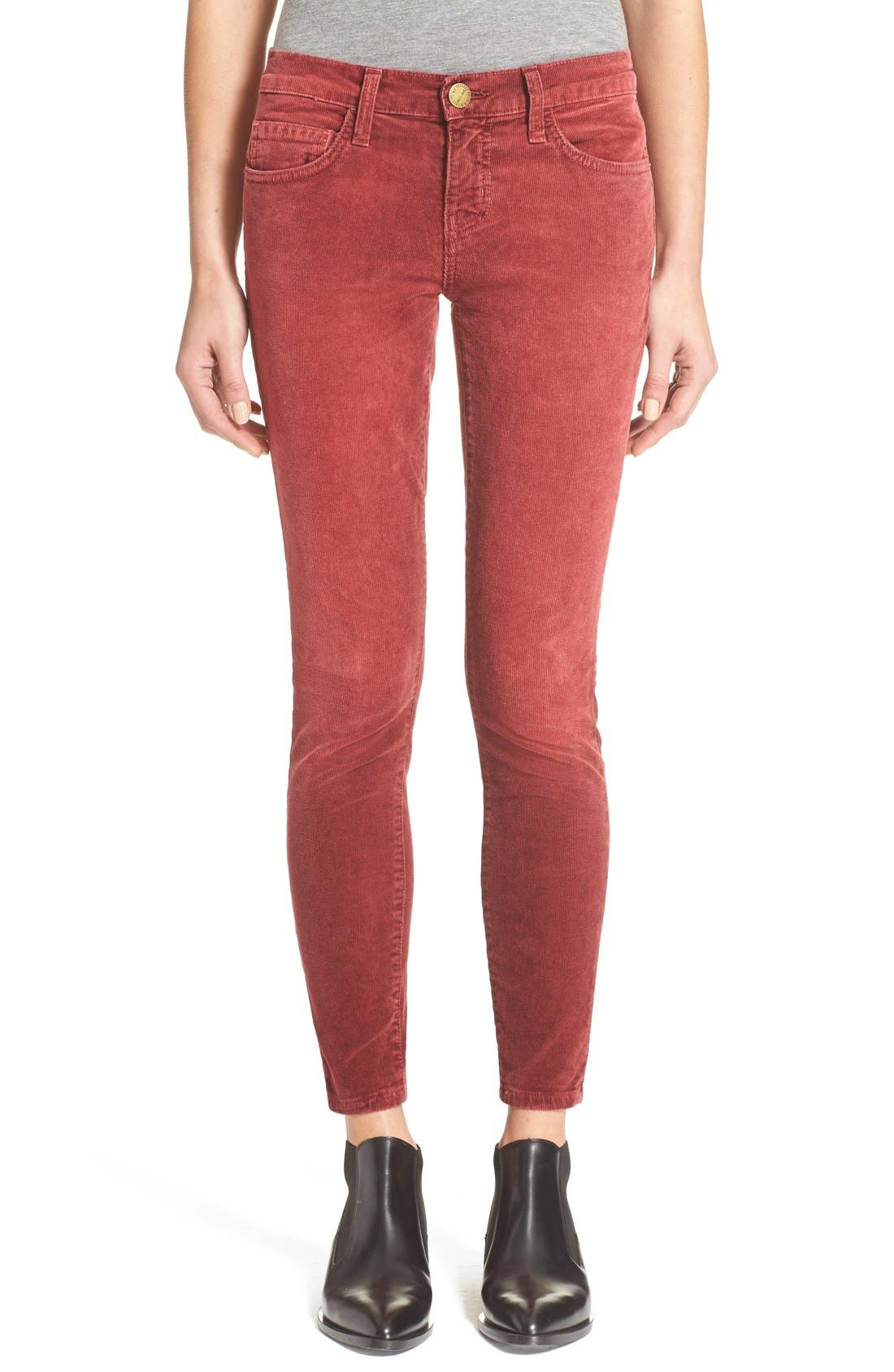CURRENT/ELLIOTT,                             'The Stiletto' Stretch Skinny Corduroy Pants,                             Main thumbnail 1, color,                             601