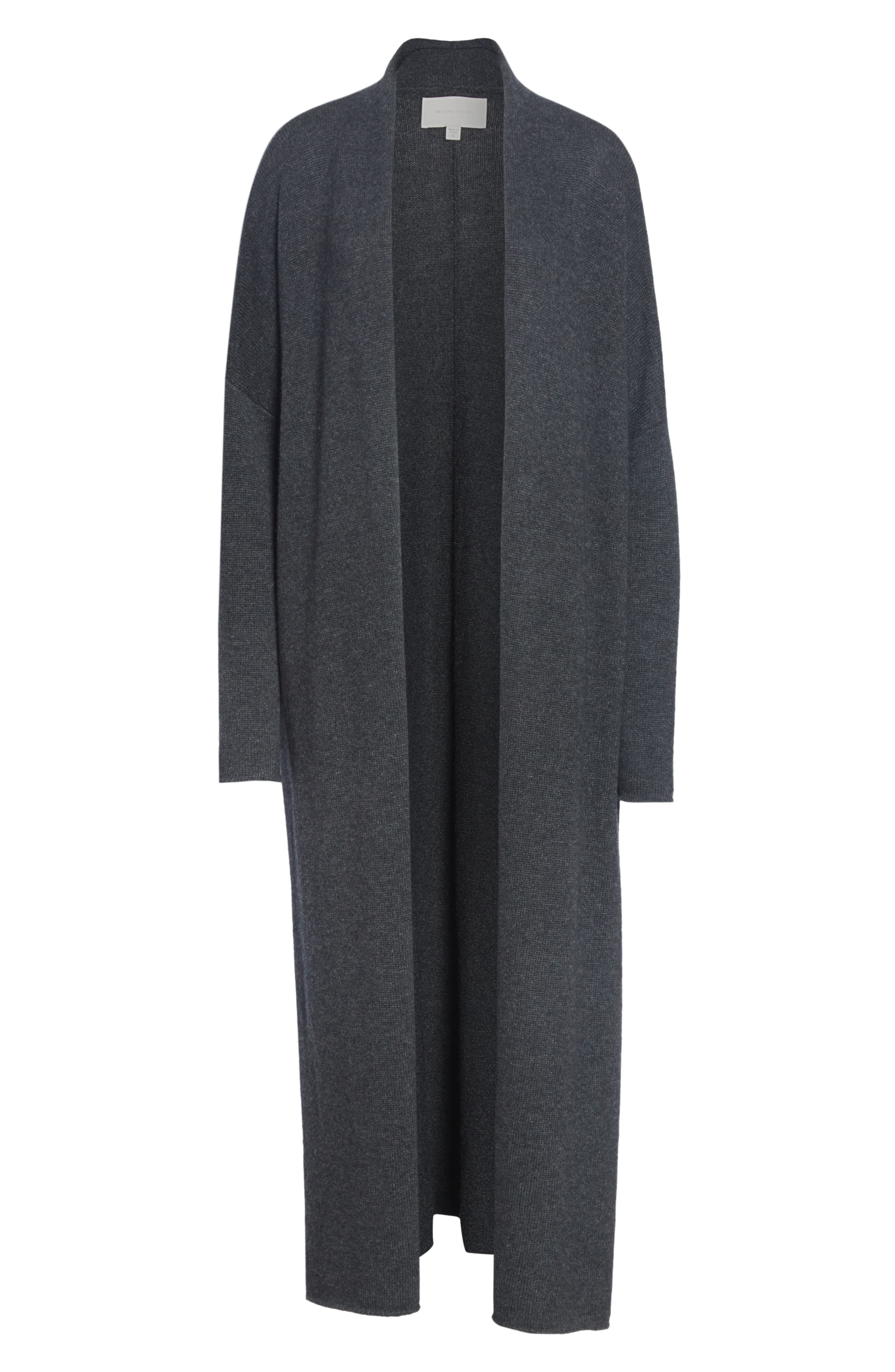 Orial Wool Cashmere Duster,                             Alternate thumbnail 6, color,                             CHARCOAL