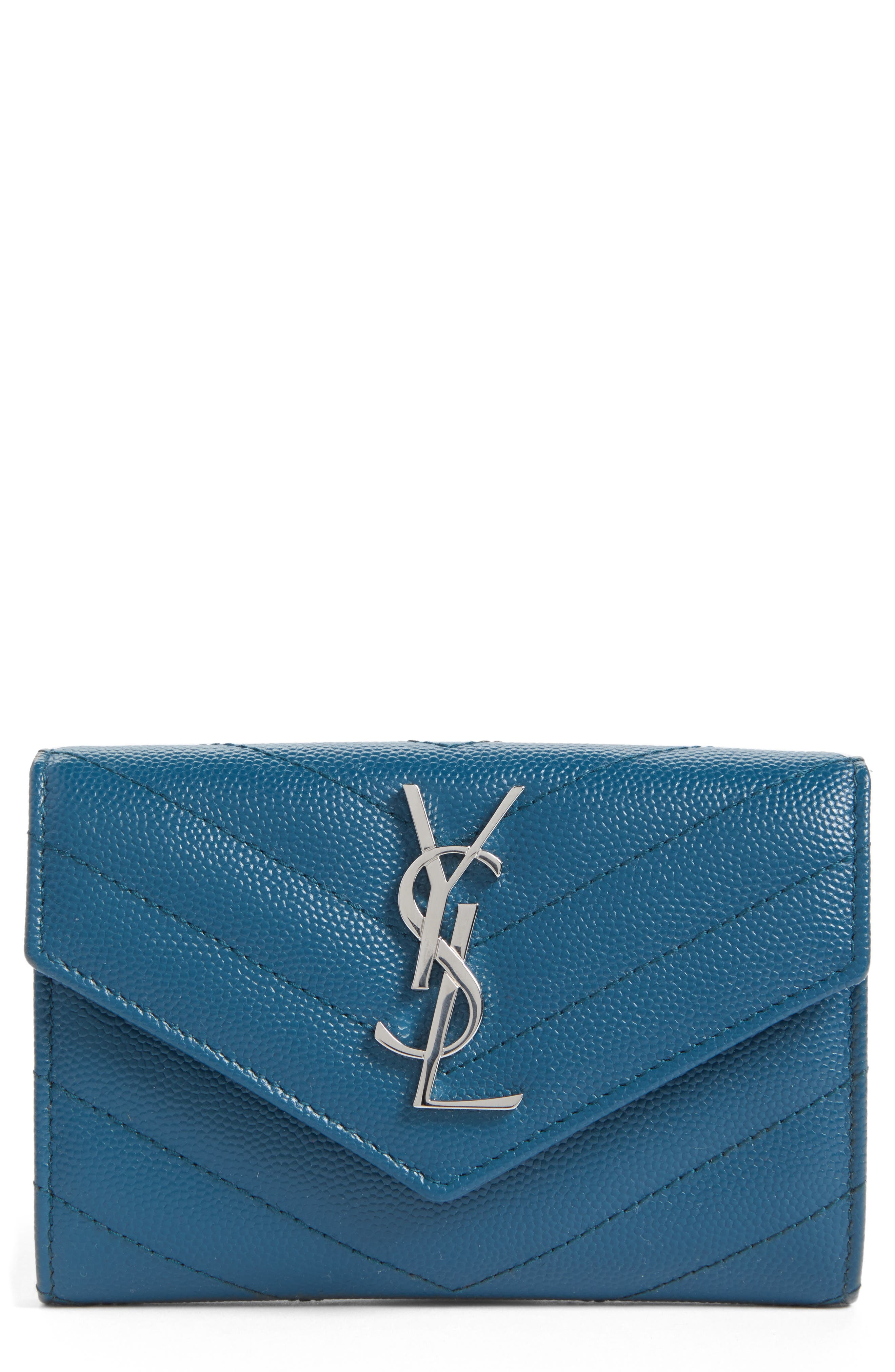 'Small Monogram' Leather French Wallet,                             Main thumbnail 2, color,