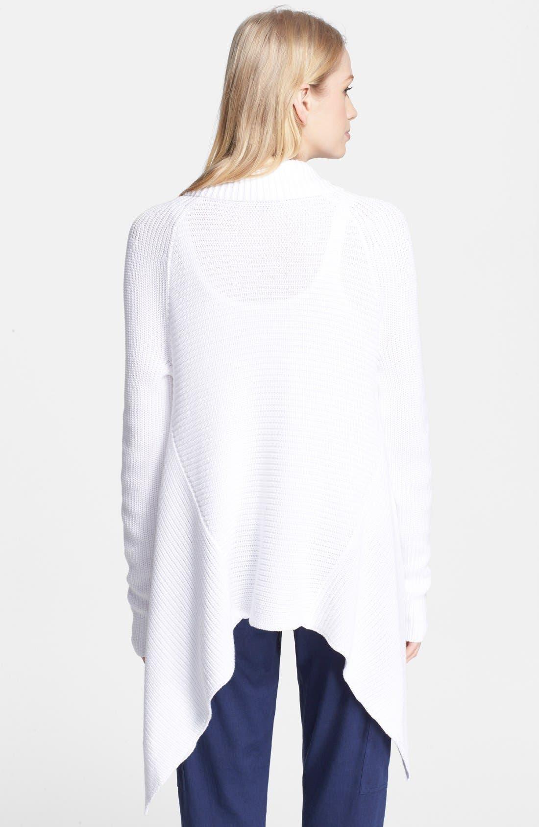 Cotton Drape Front Cardigan,                             Alternate thumbnail 2, color,                             137