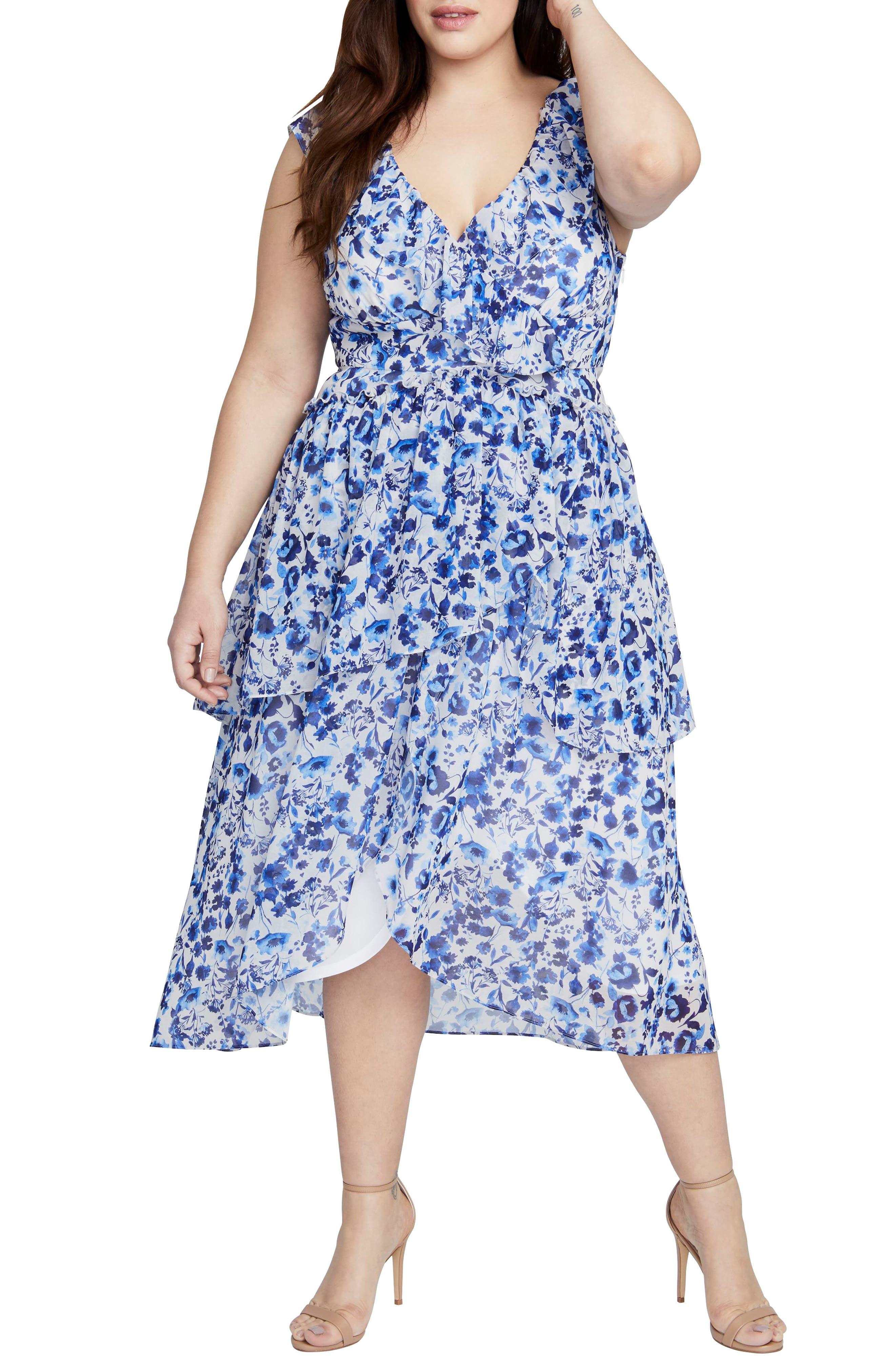 Plus Size Rachel Rachel Roy Sleeveless Midi Dress, Blue