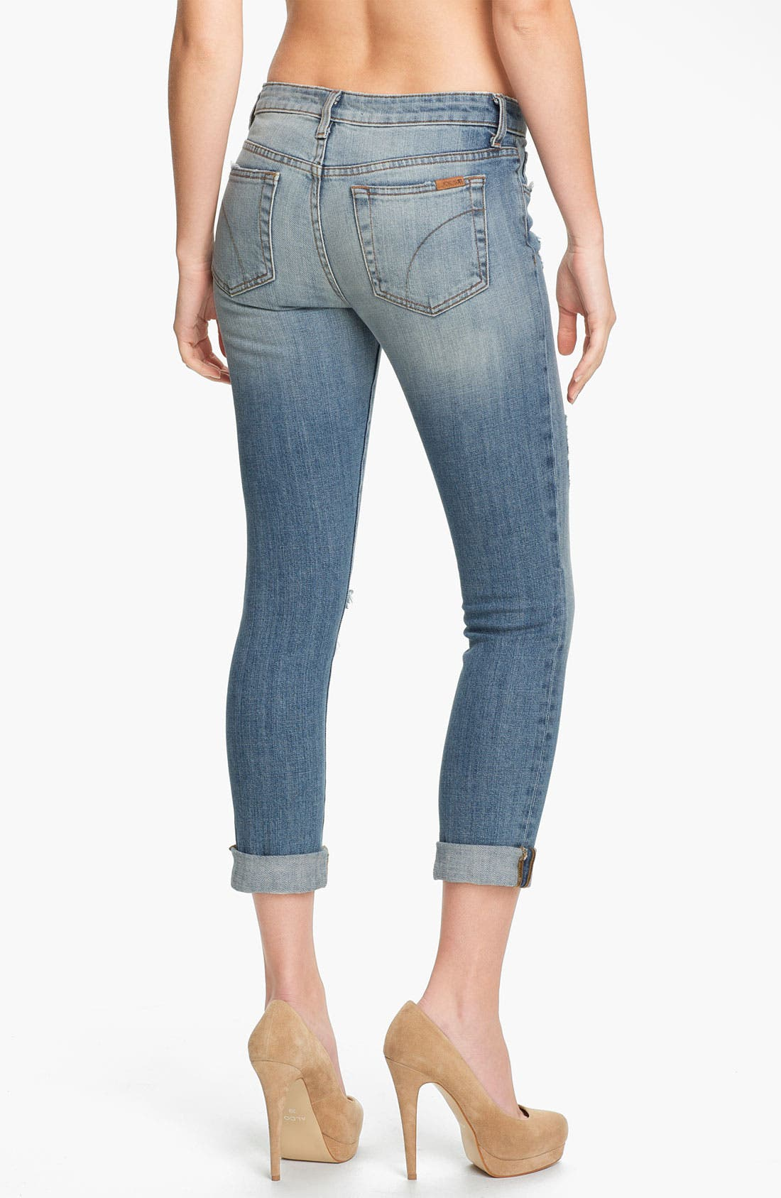Rolled Skinny Ankle Jeans,                             Alternate thumbnail 2, color,                             440