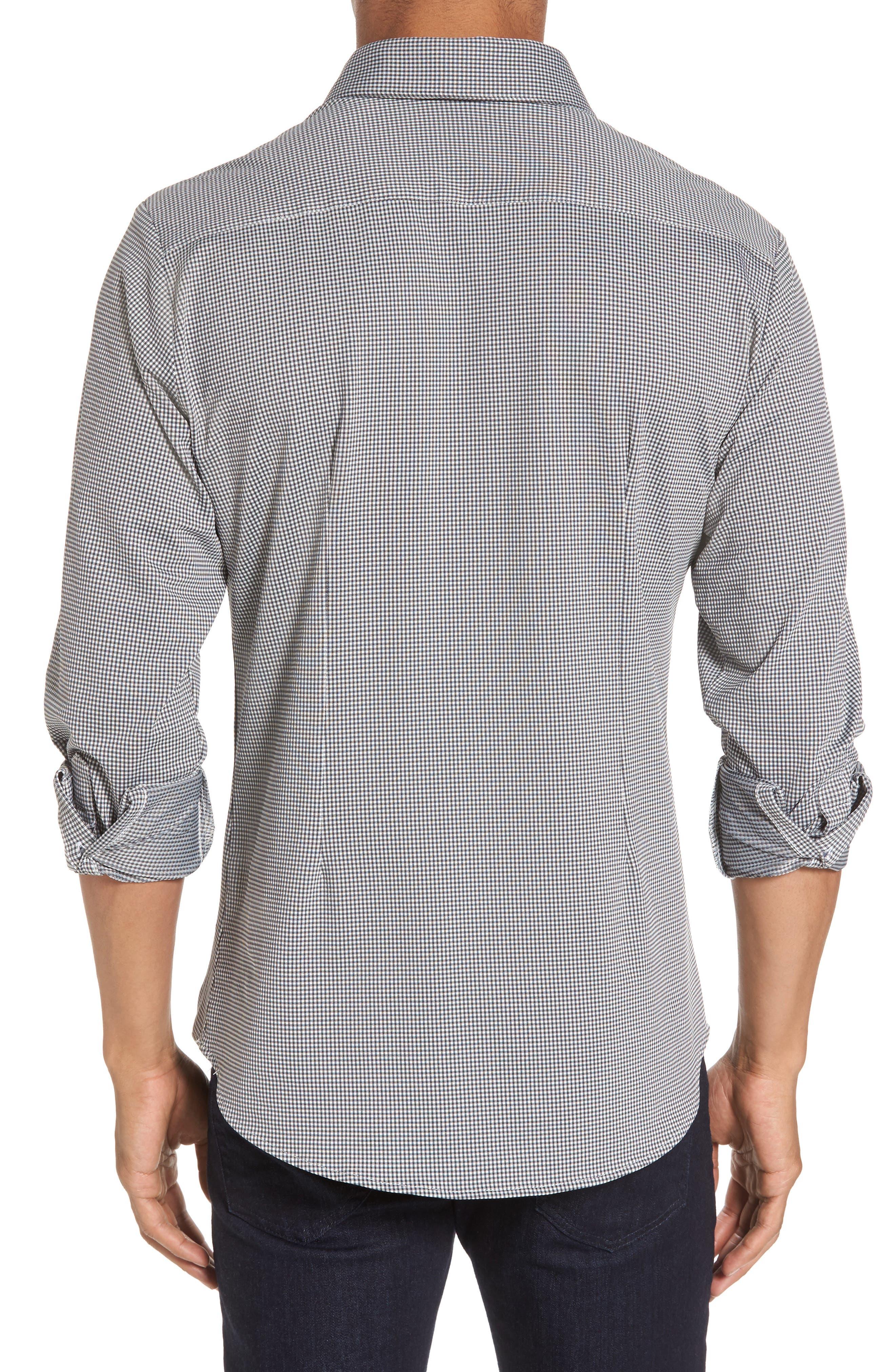 Davenport Gingham Sport Shirt,                             Alternate thumbnail 4, color,