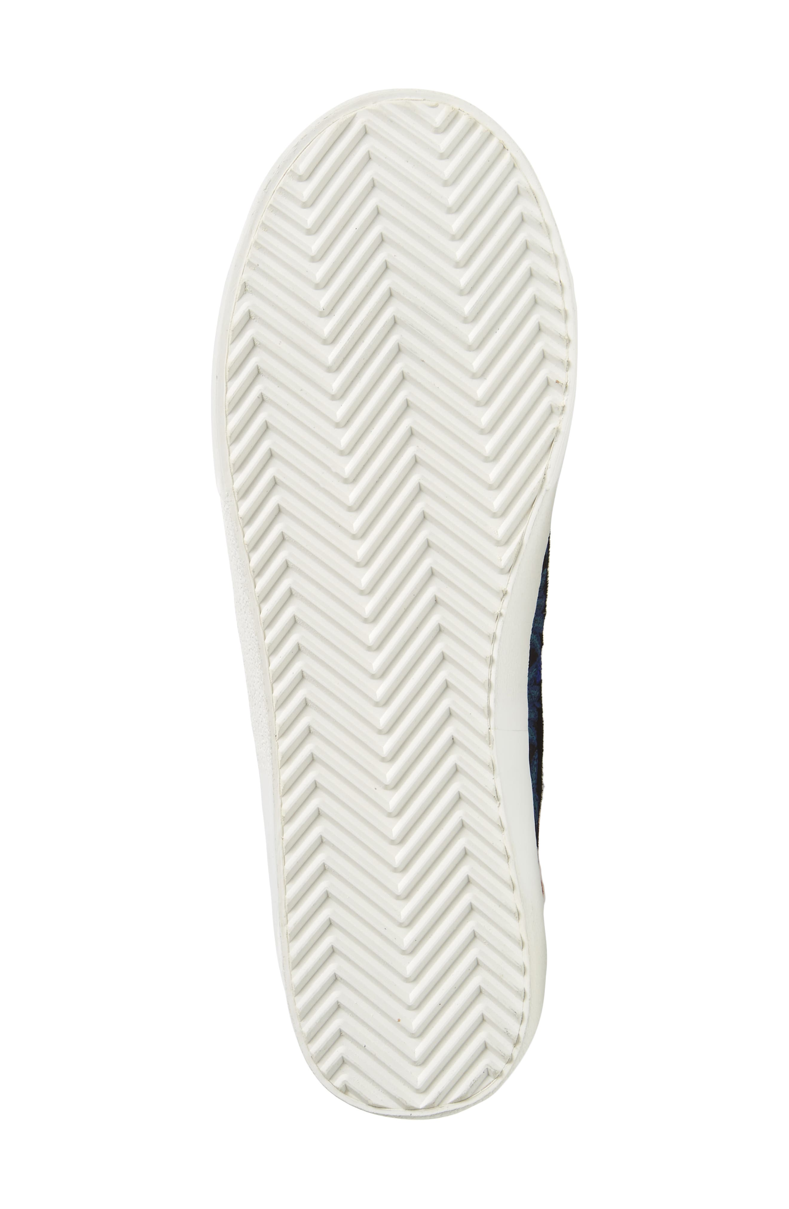 Zaina Embroidered Sneaker,                             Alternate thumbnail 6, color,                             004