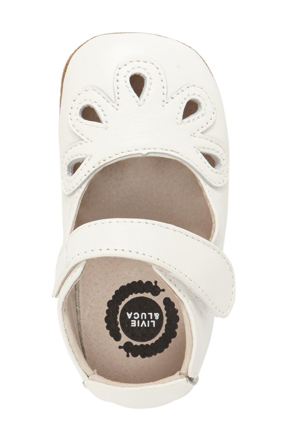 'Petal' Mary Jane Crib Shoe,                             Alternate thumbnail 6, color,