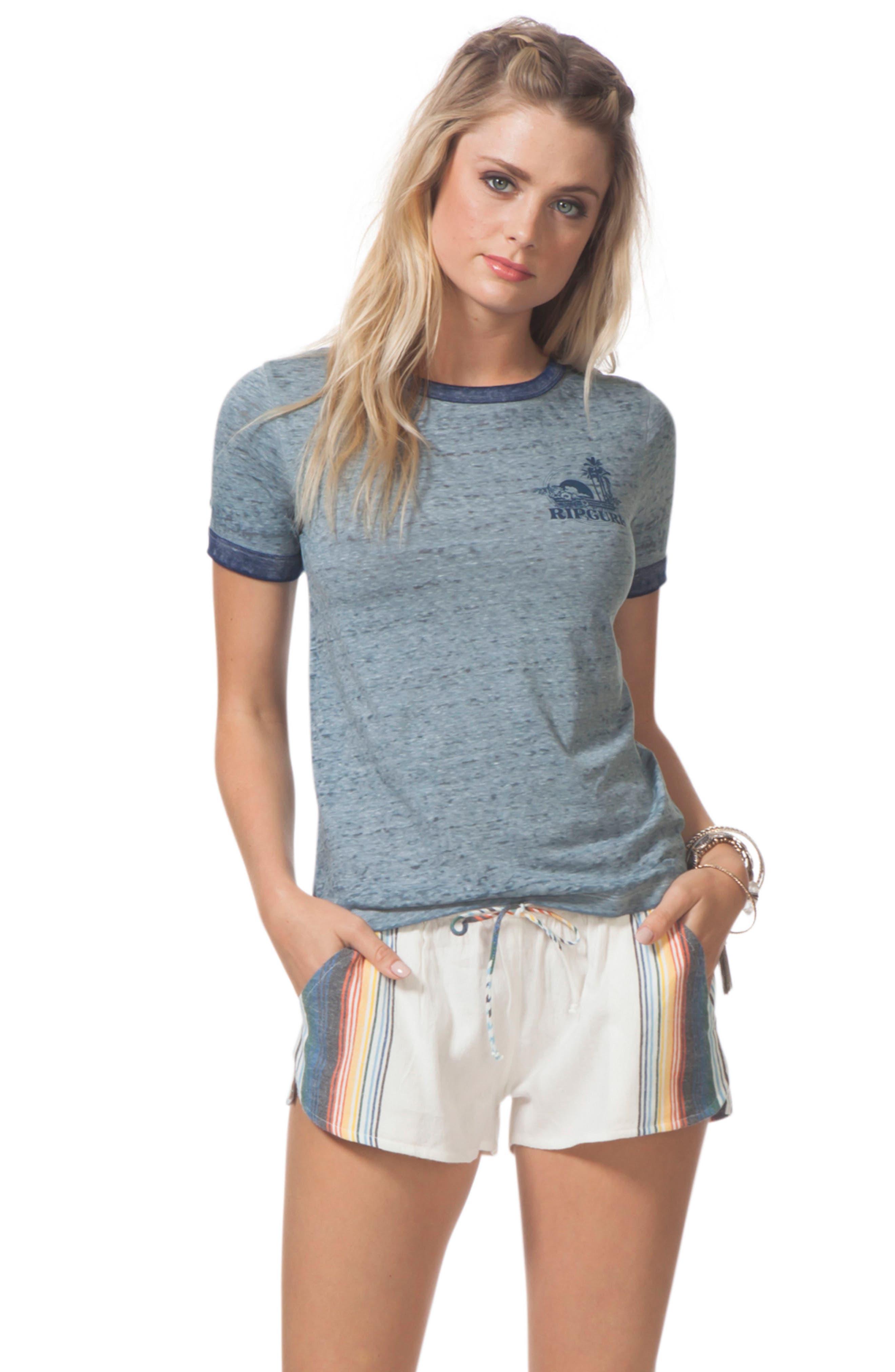 Beach Bazaar Cotton Shorts,                             Alternate thumbnail 3, color,                             111