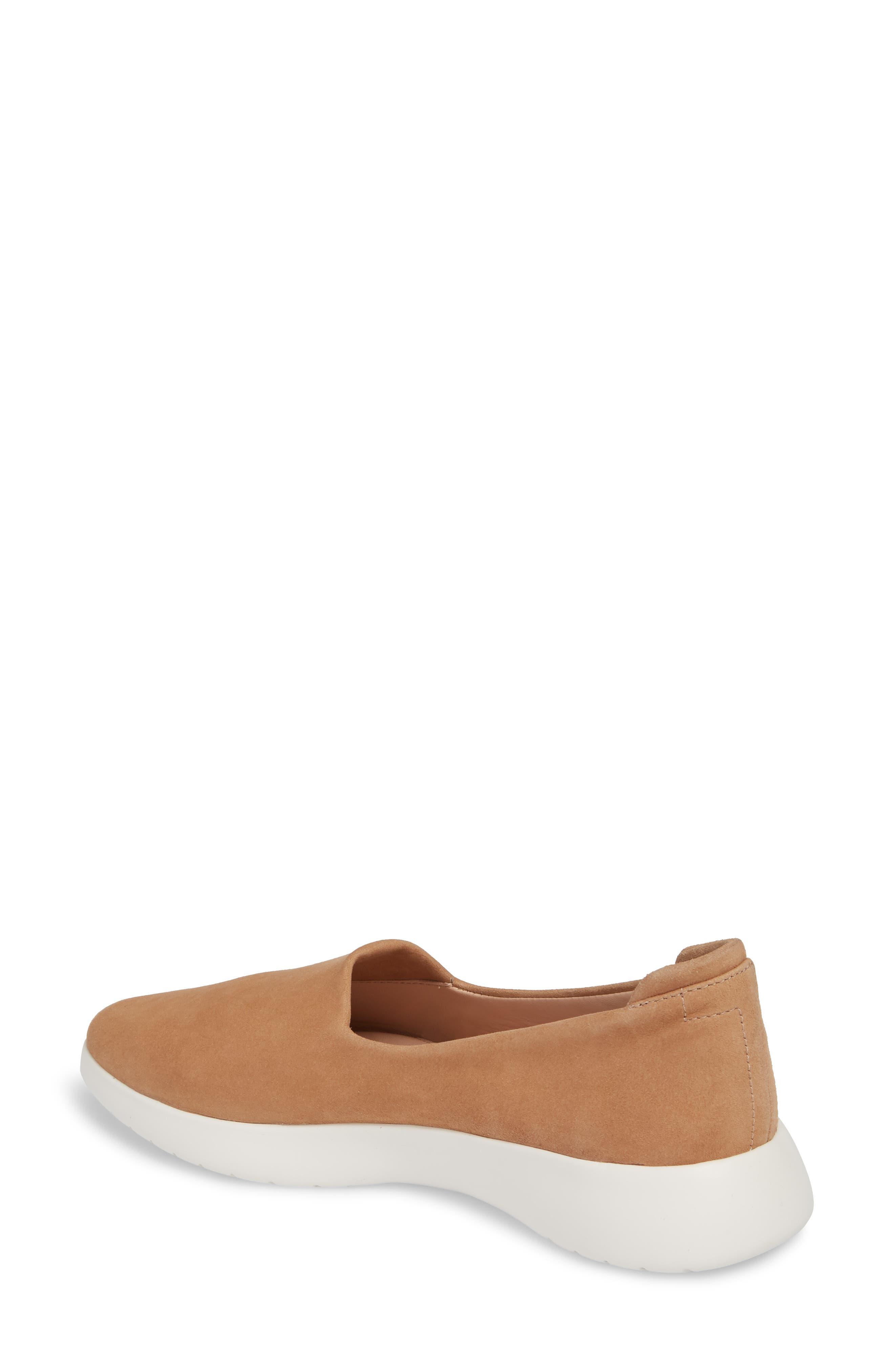 Darla Slip-On Sneaker,                             Alternate thumbnail 2, color,                             SOFT BEIGE SUEDE