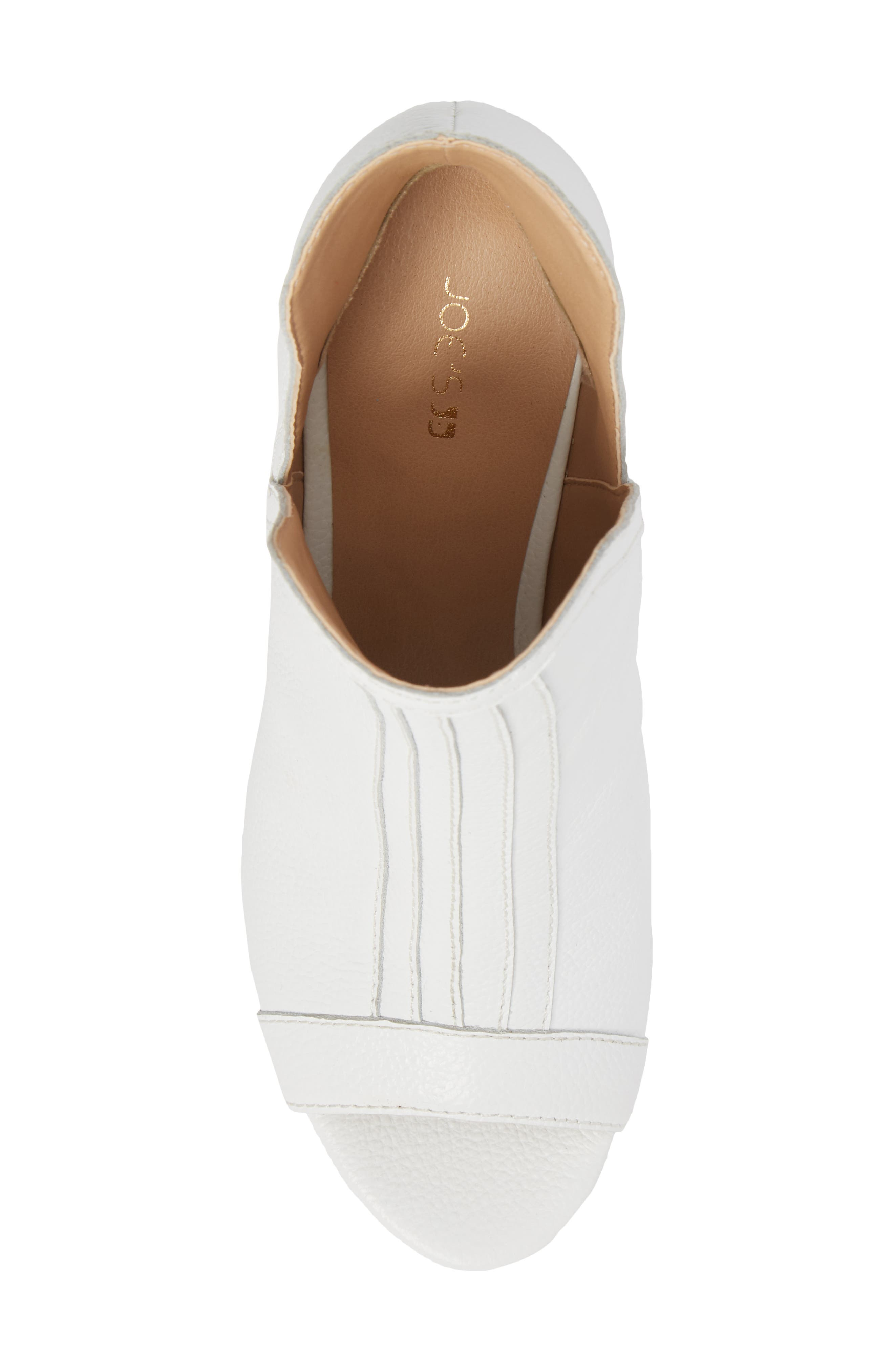 Marla Bootie,                             Alternate thumbnail 5, color,                             WHITE LEATHER