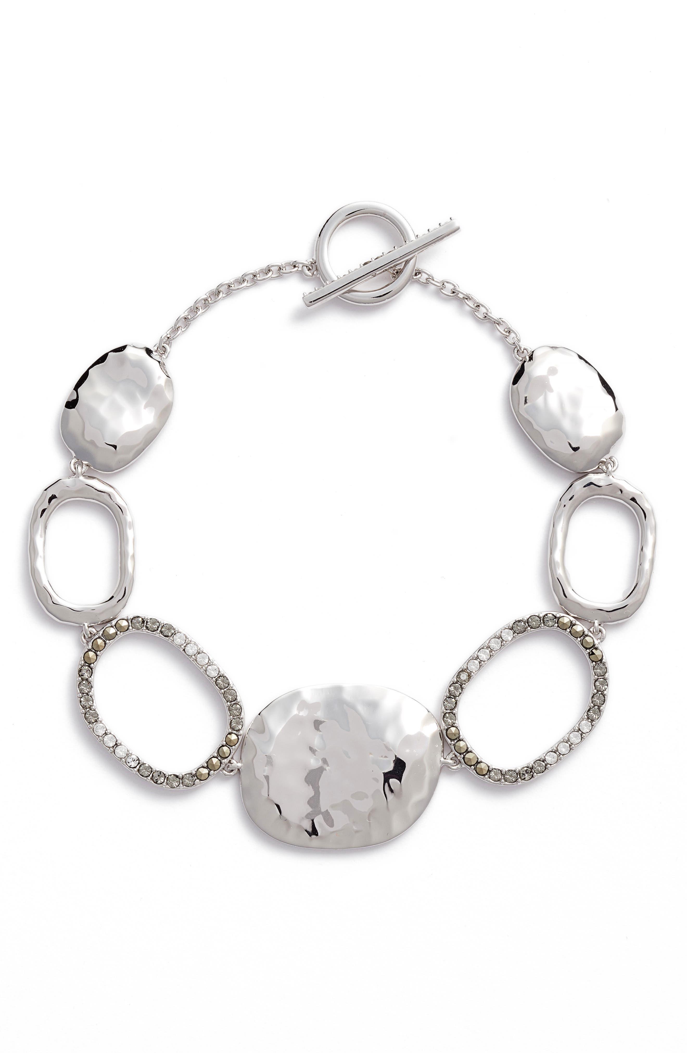 Semiprecious Stone Link Bracelet,                             Main thumbnail 1, color,                             040