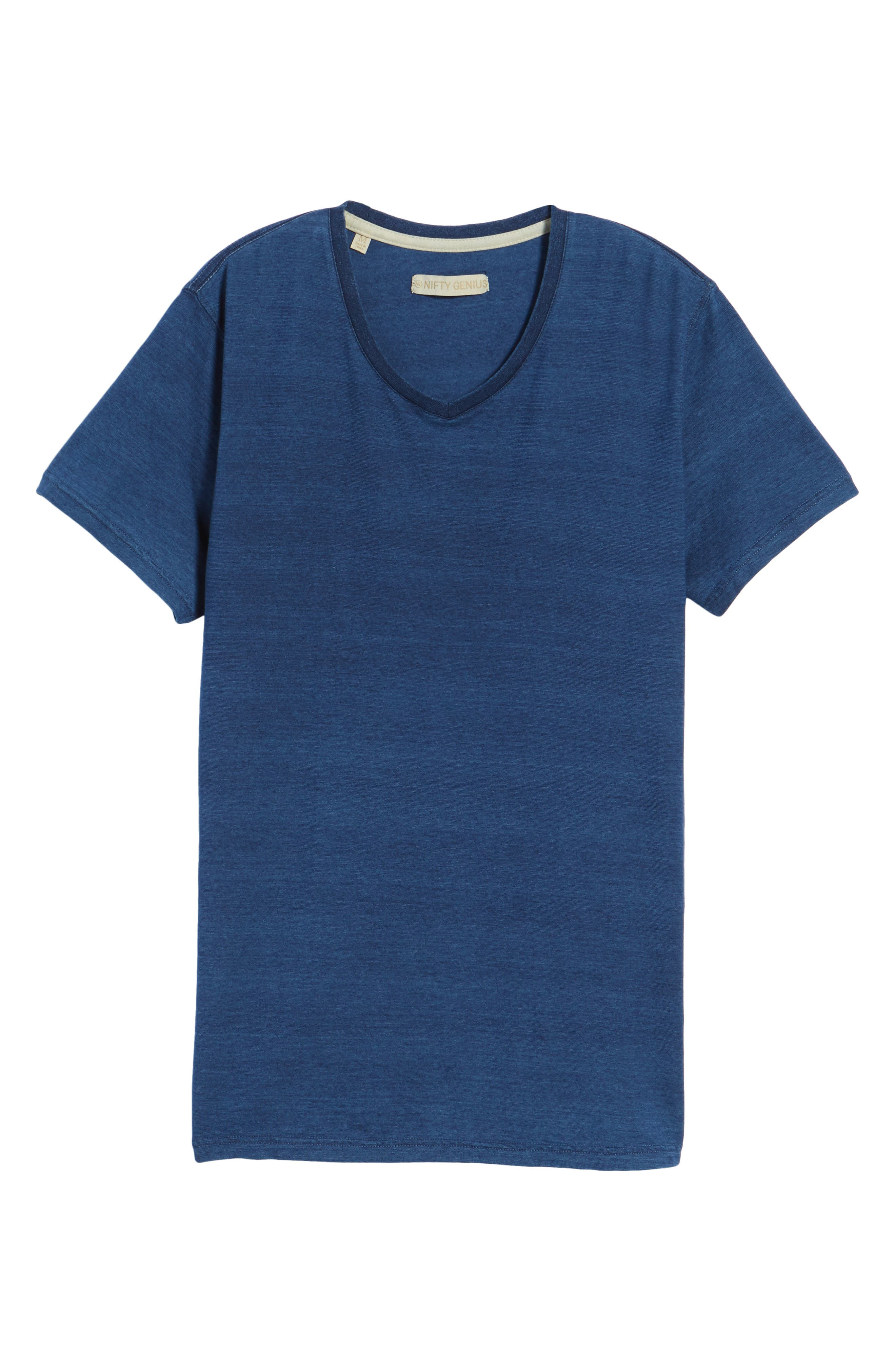 Marlon Slim Fit V-Neck Tee,                             Alternate thumbnail 6, color,                             401
