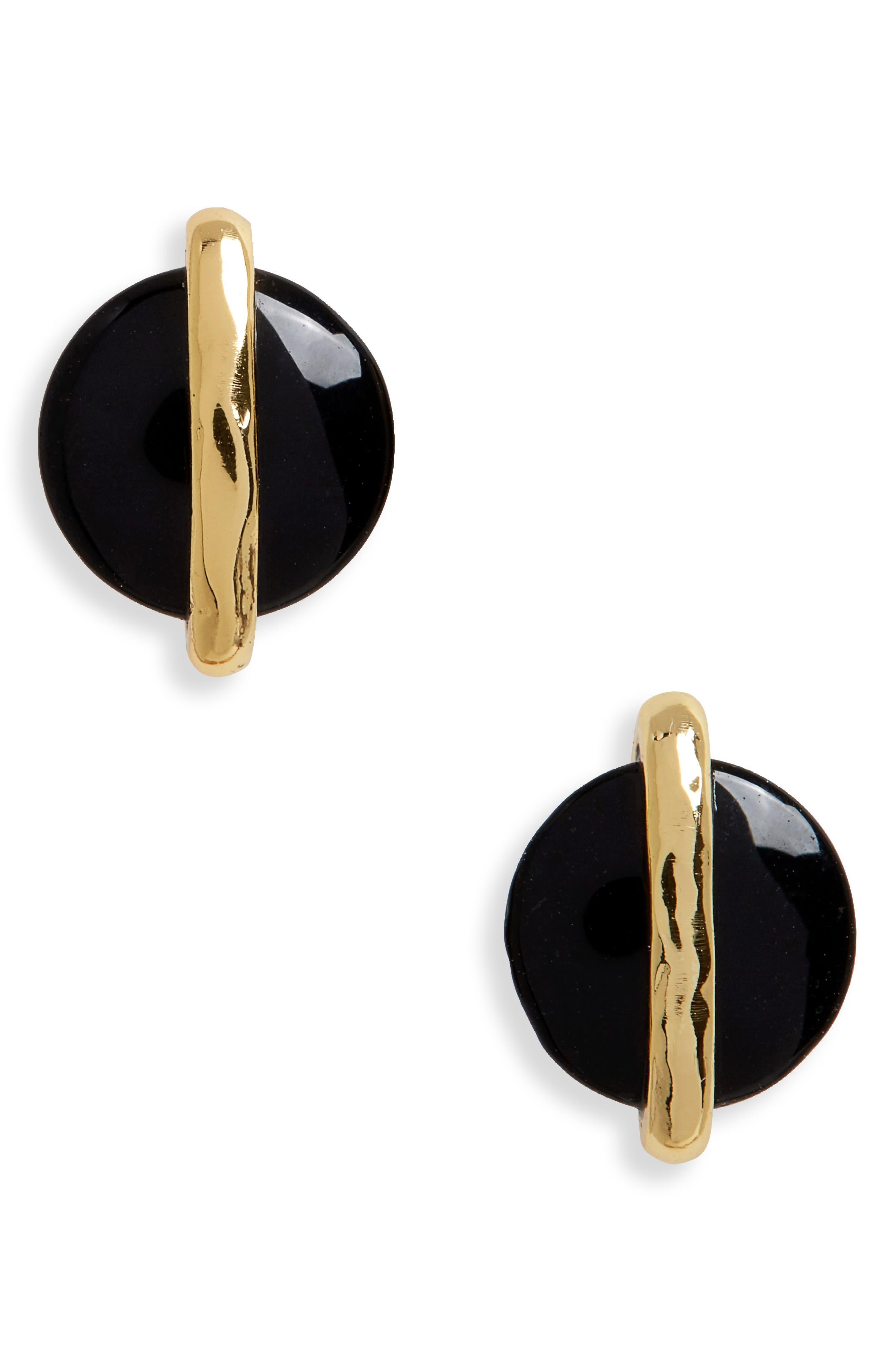 Brinn Stud Earrings,                             Main thumbnail 1, color,                             BLACK ONYX