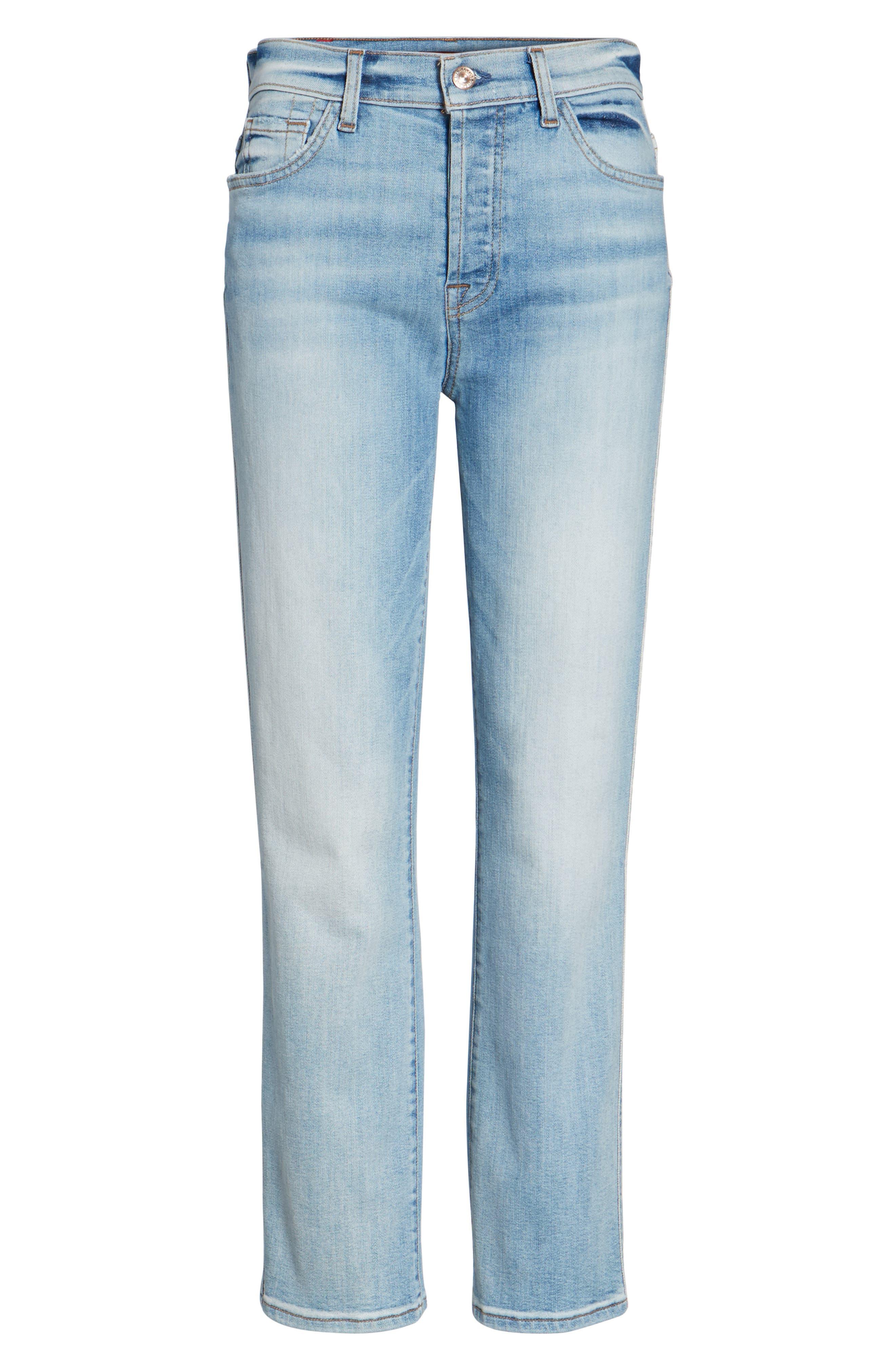 Edie High Waist Crop Jeans,                             Alternate thumbnail 6, color,