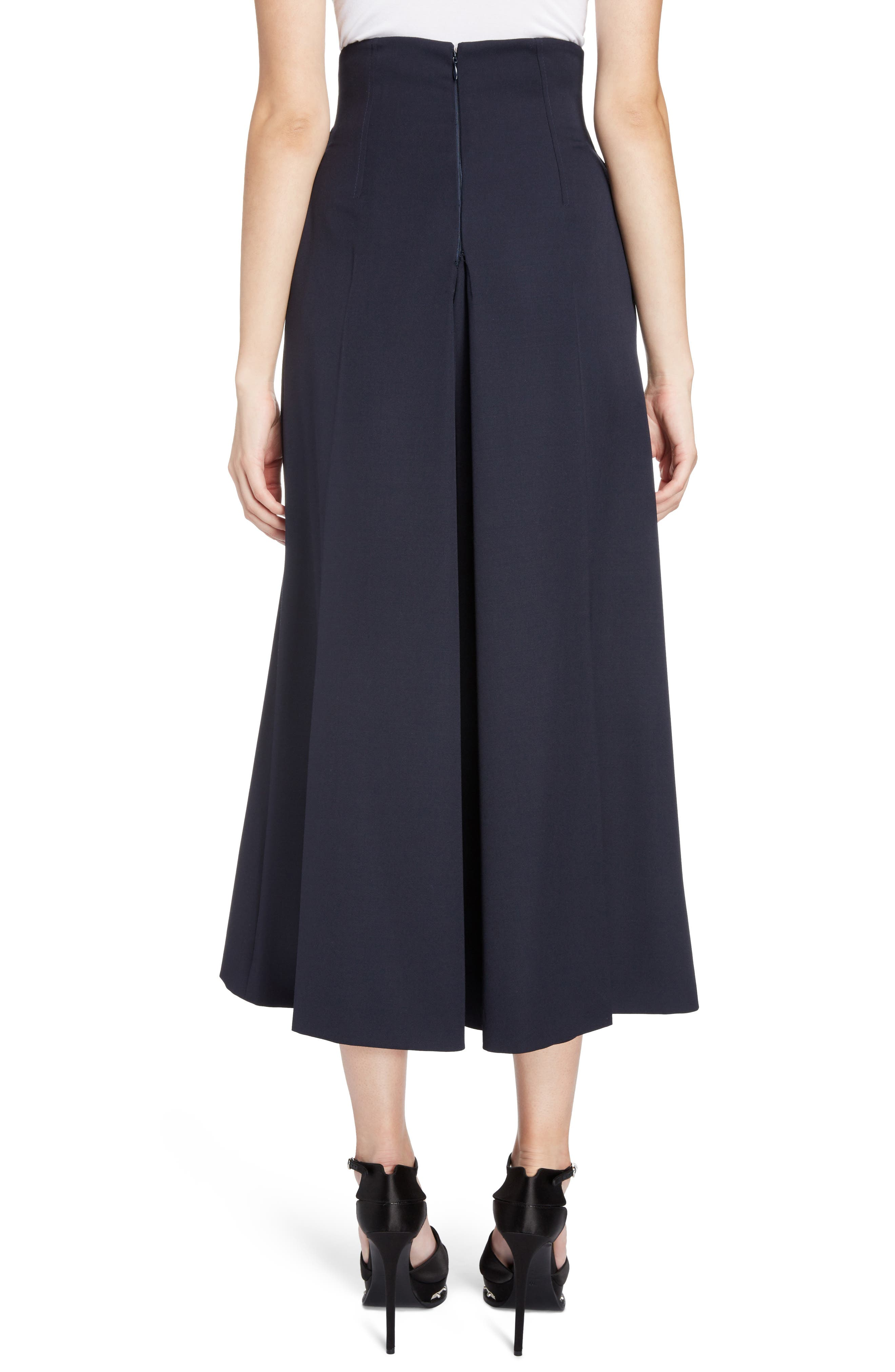 Wool Culottes,                             Alternate thumbnail 2, color,