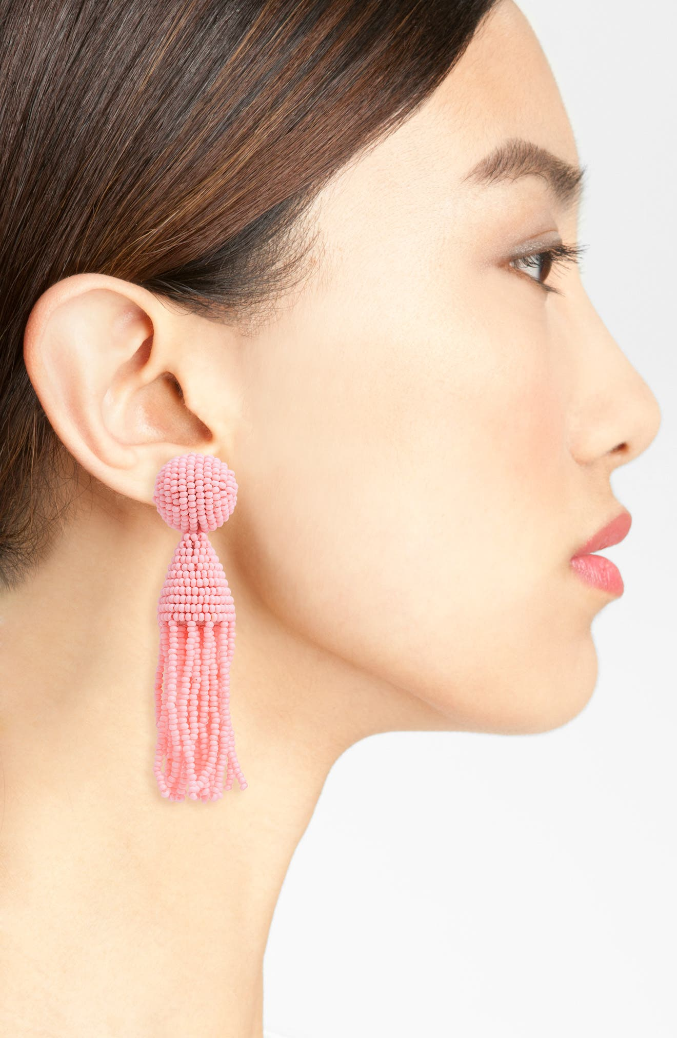 'Classic Short' Tassel Drop Clip Earrings,                             Alternate thumbnail 40, color,