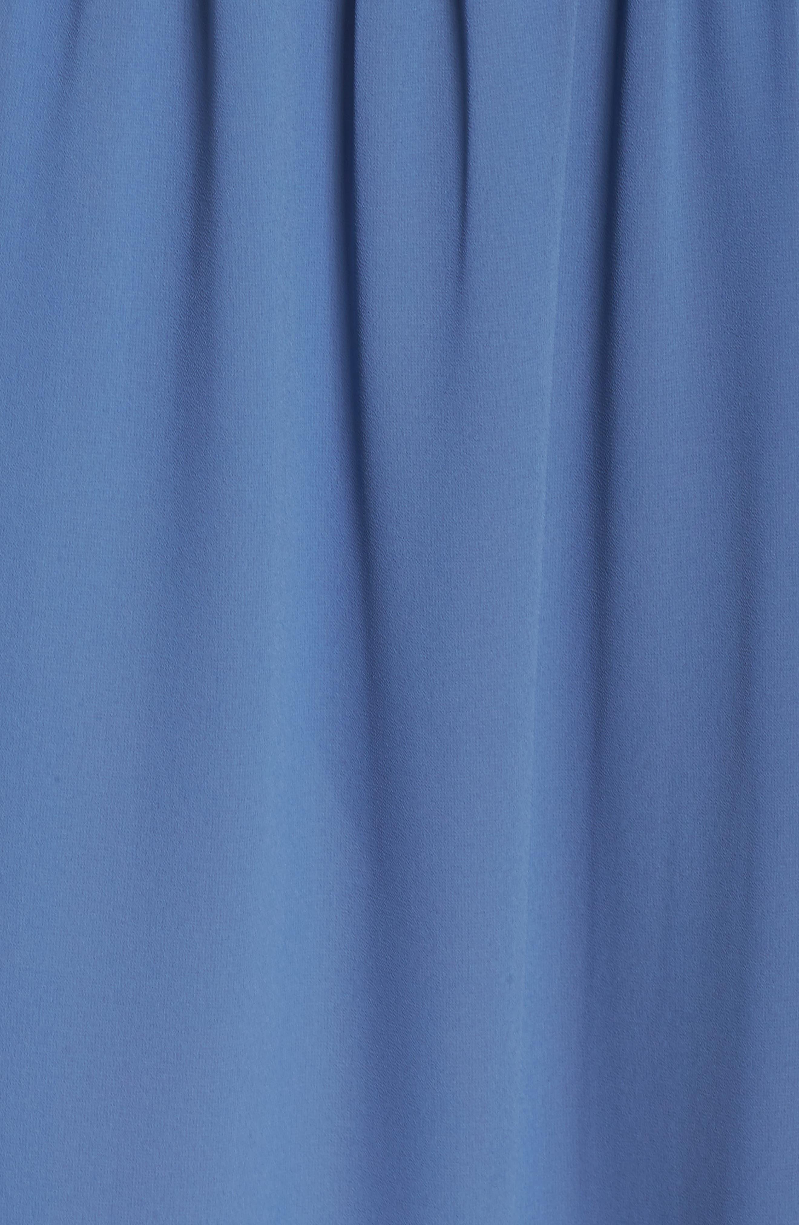 Smocked Chiffon Dress,                             Alternate thumbnail 5, color,                             400