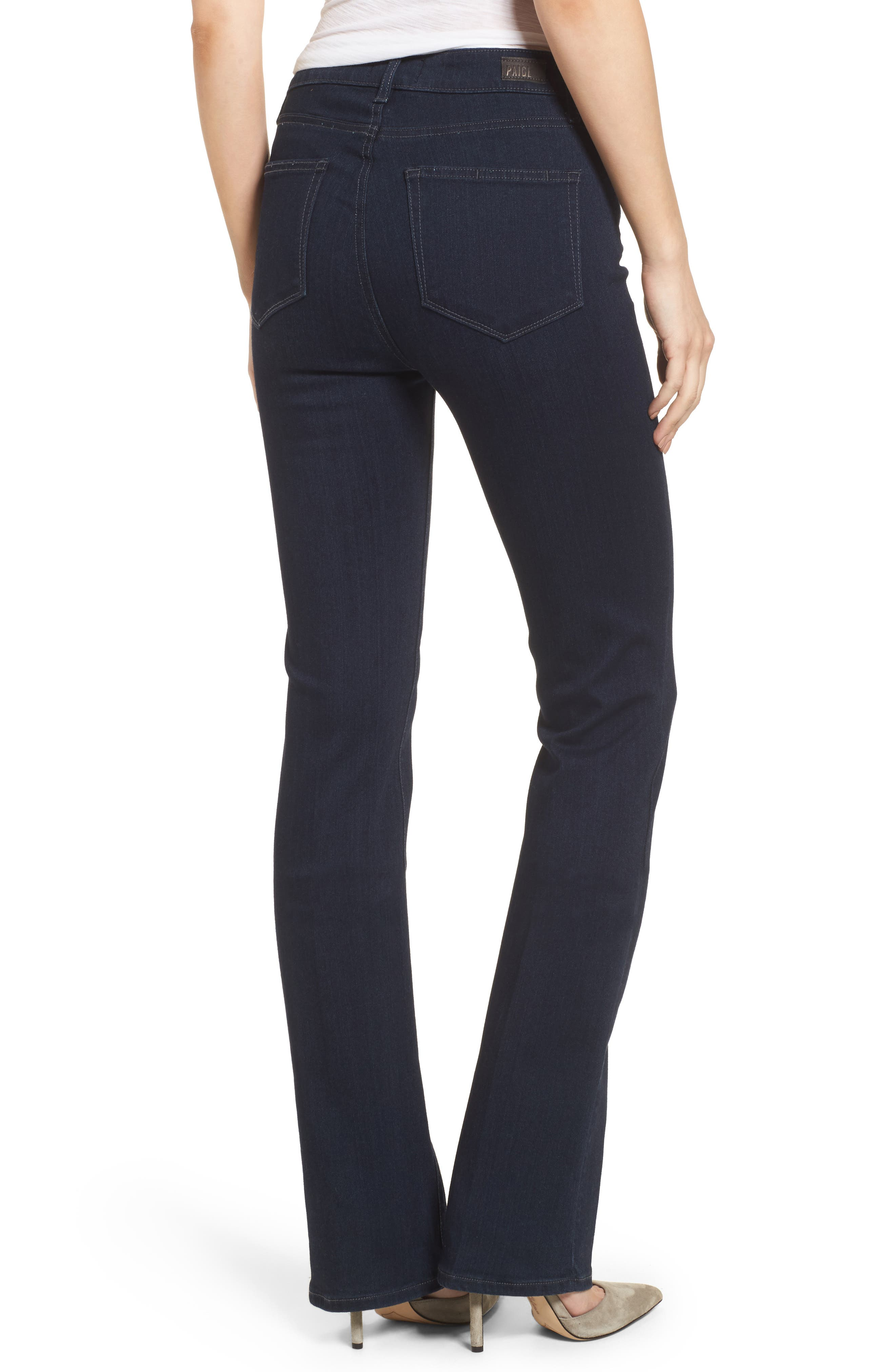 Transcend - Manhattan High Rise Bootcut Jeans,                             Alternate thumbnail 2, color,                             400