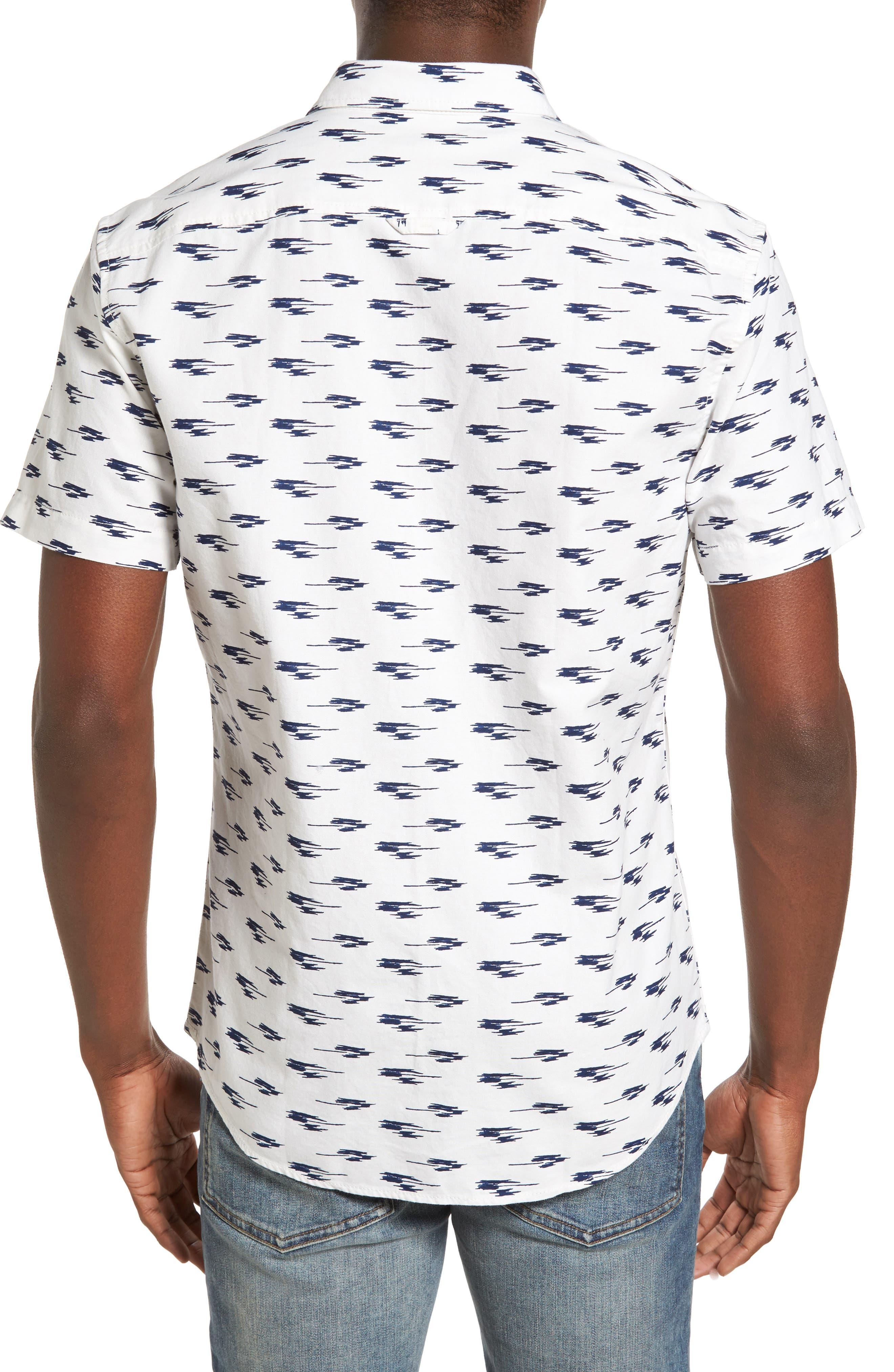 Ikat Oxford Shirt,                             Alternate thumbnail 2, color,