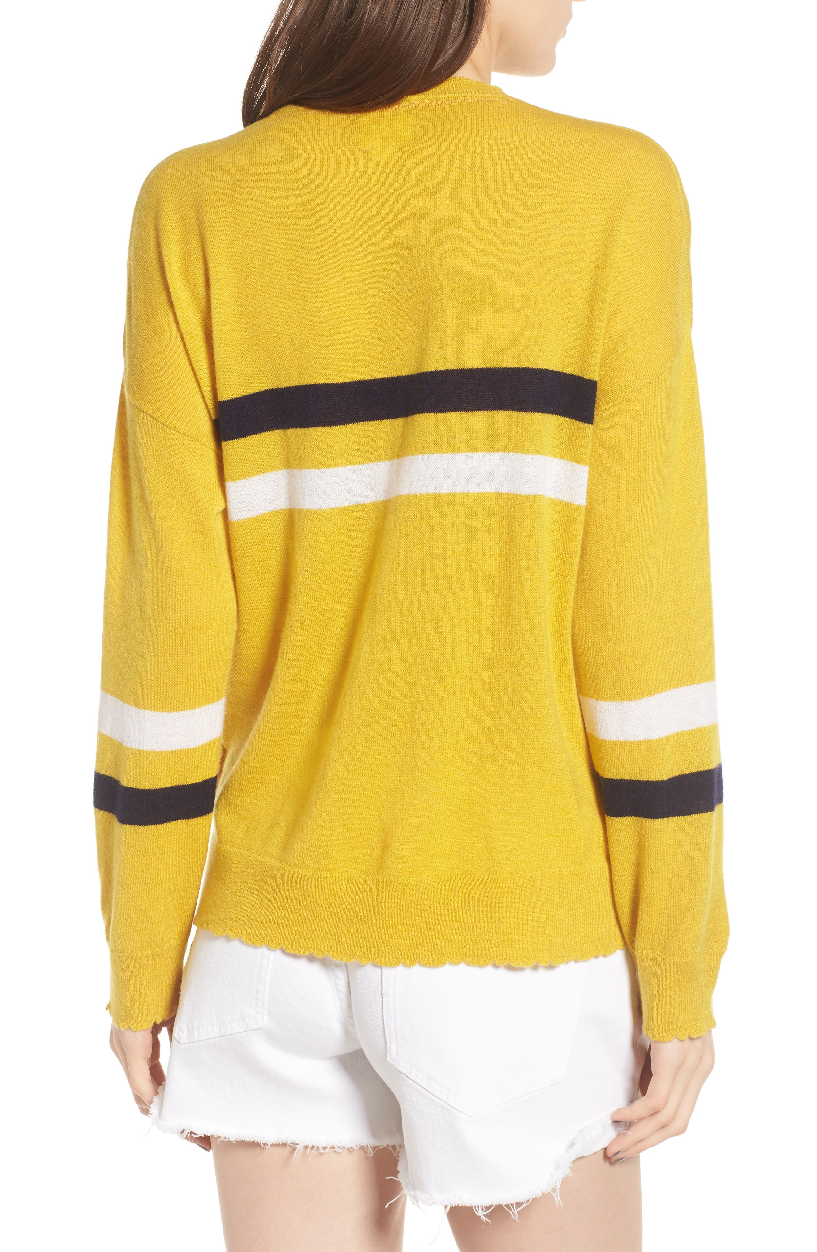 Stripe Wool & Cashmere Sweater,                             Alternate thumbnail 2, color,                             700