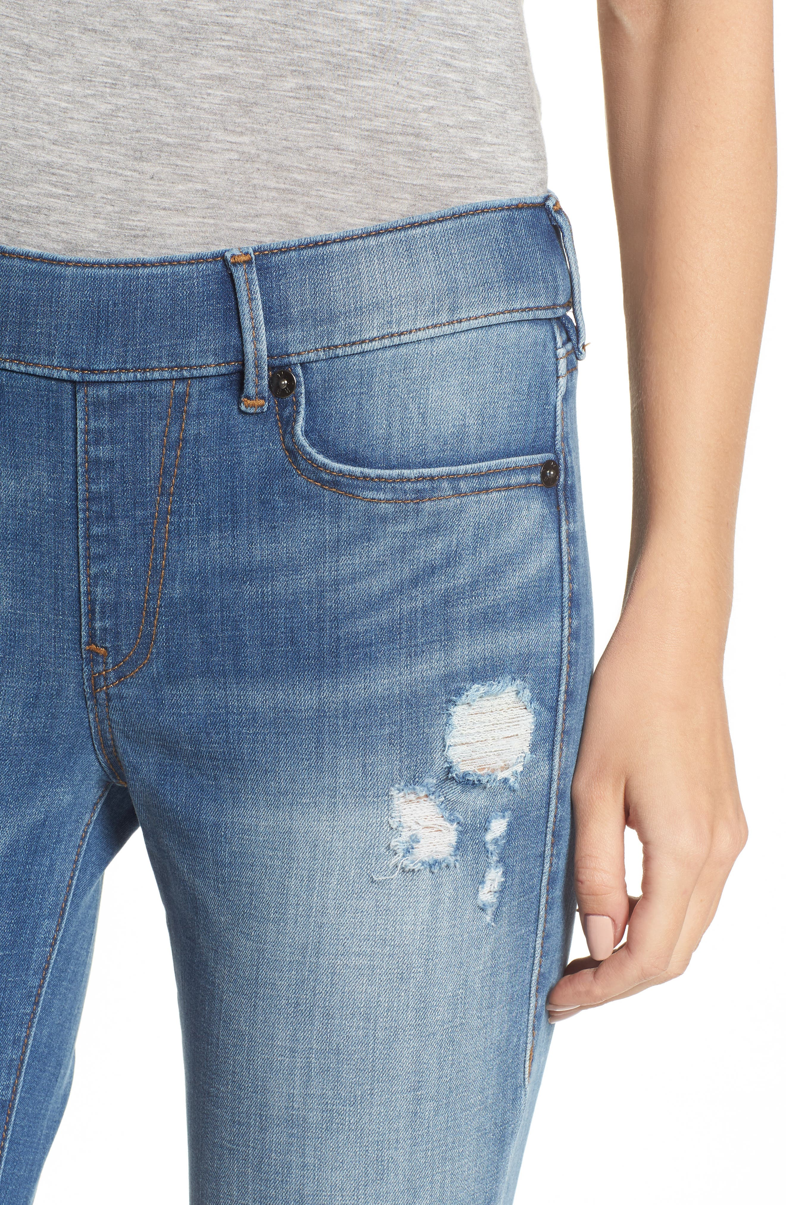 Jennie Runway Curvy Skinny Jeans,                             Alternate thumbnail 4, color,                             400
