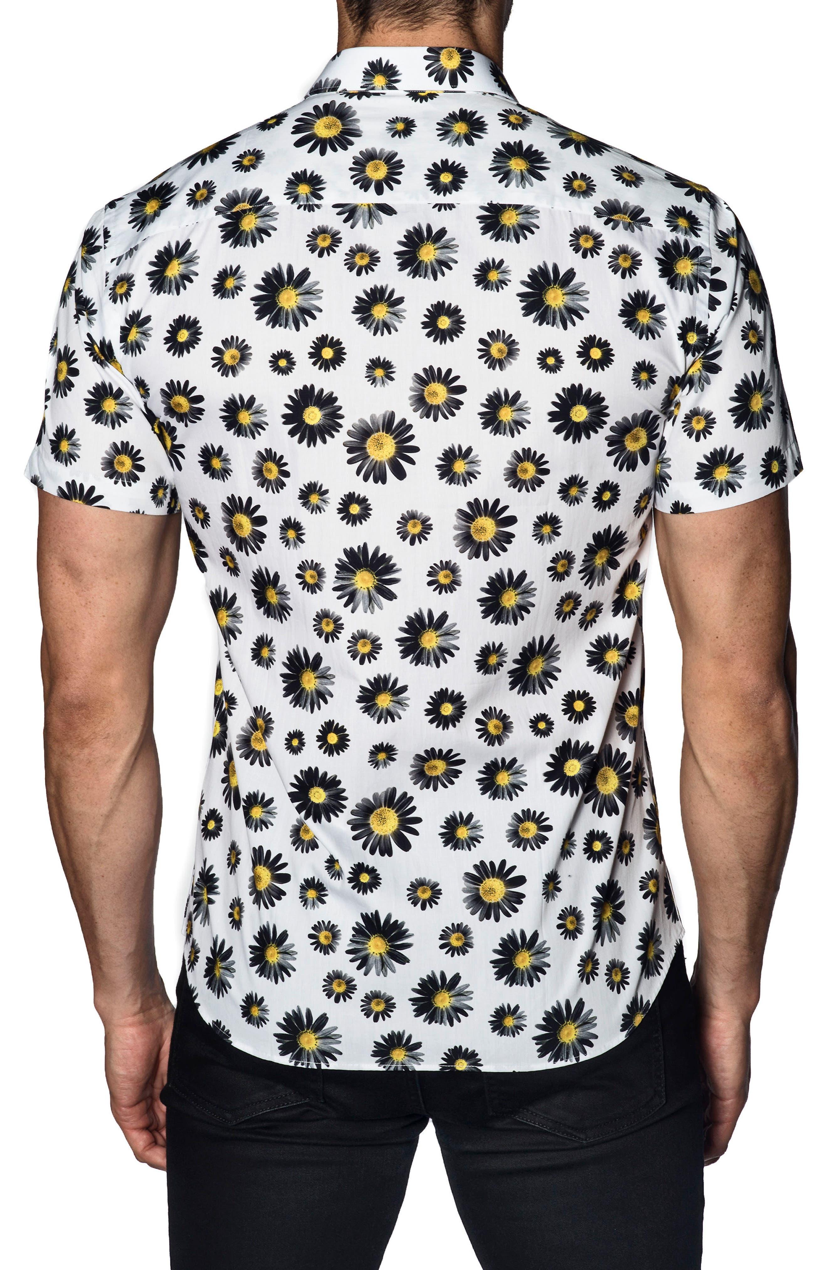 Trim Fit Floral Print Sport Shirt,                             Alternate thumbnail 2, color,                             400