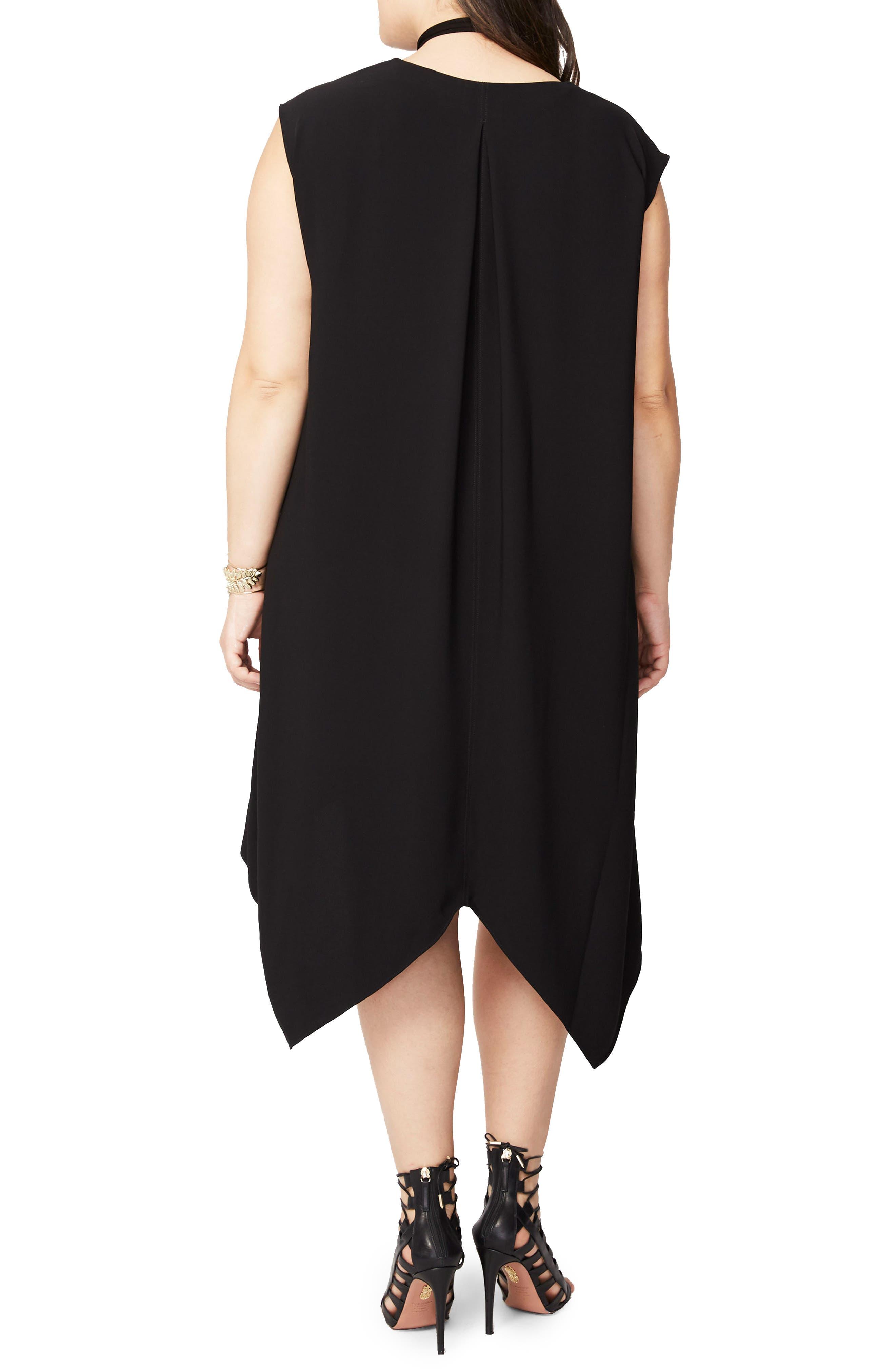 Sydney High/Low Dress,                             Alternate thumbnail 2, color,                             BLACK