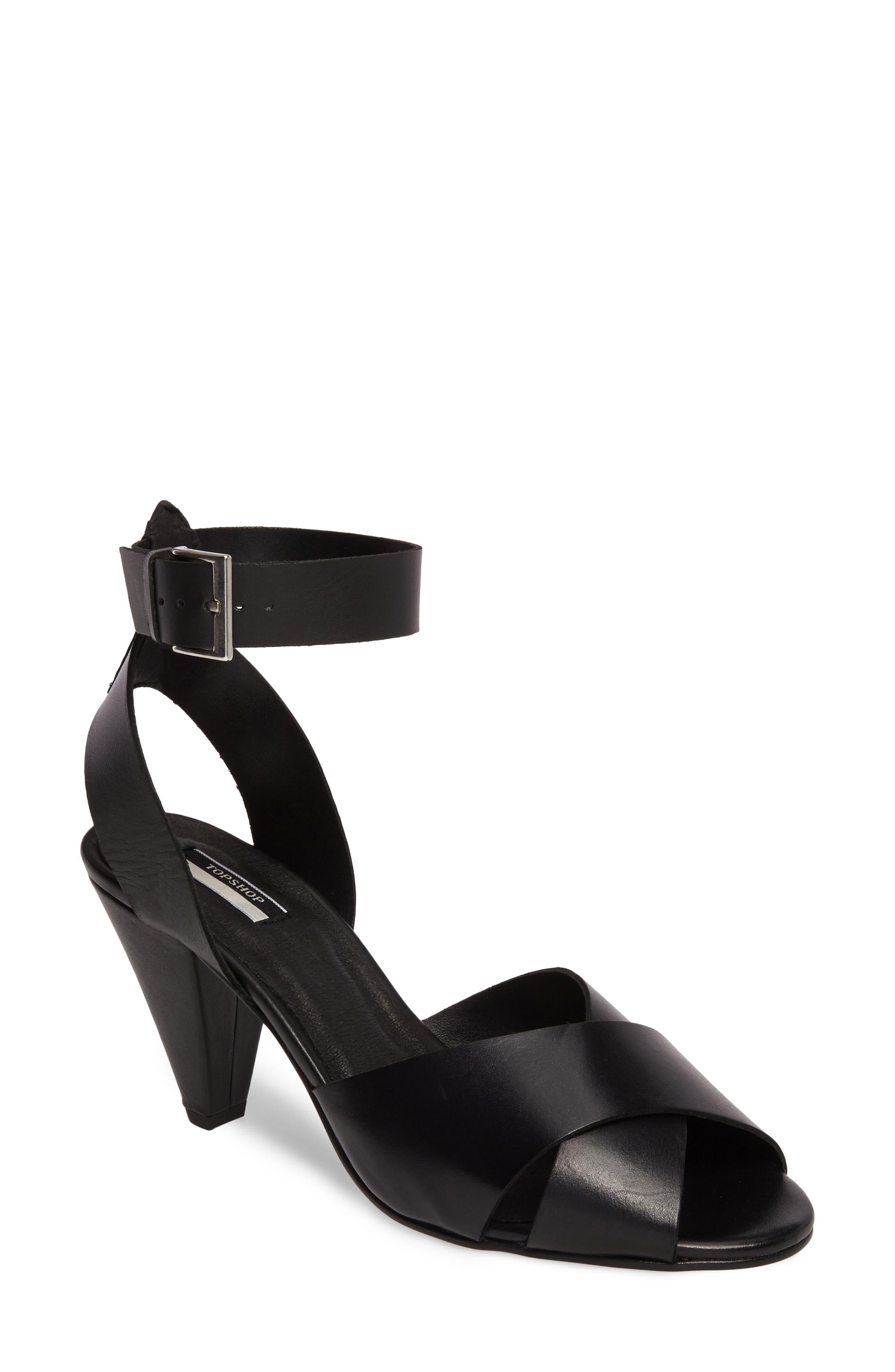 Nazia Statement Heel Sandal,                         Main,                         color, 001