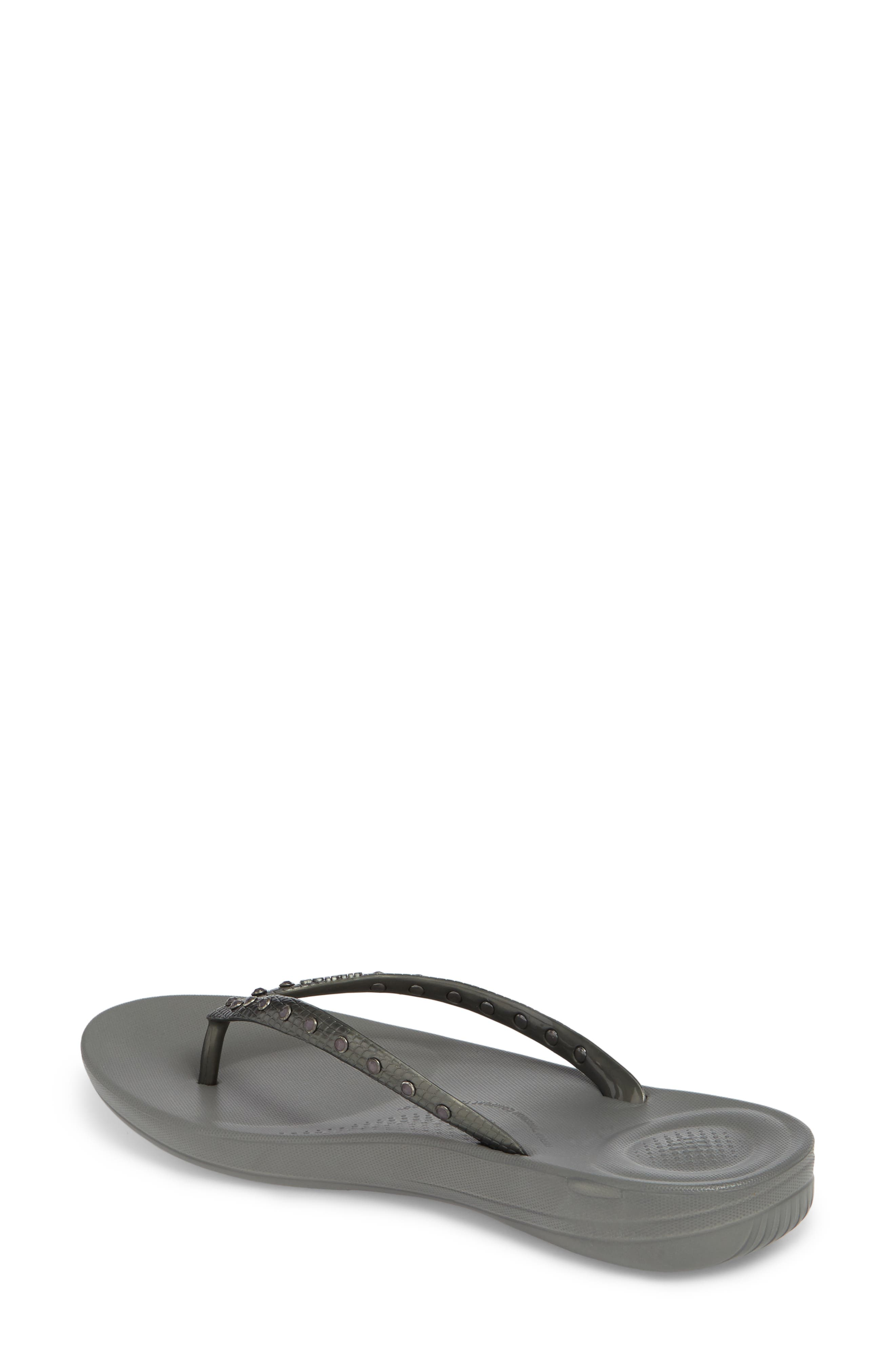 iQushion Flip Flop,                             Alternate thumbnail 2, color,                             CHARCOAL GREY