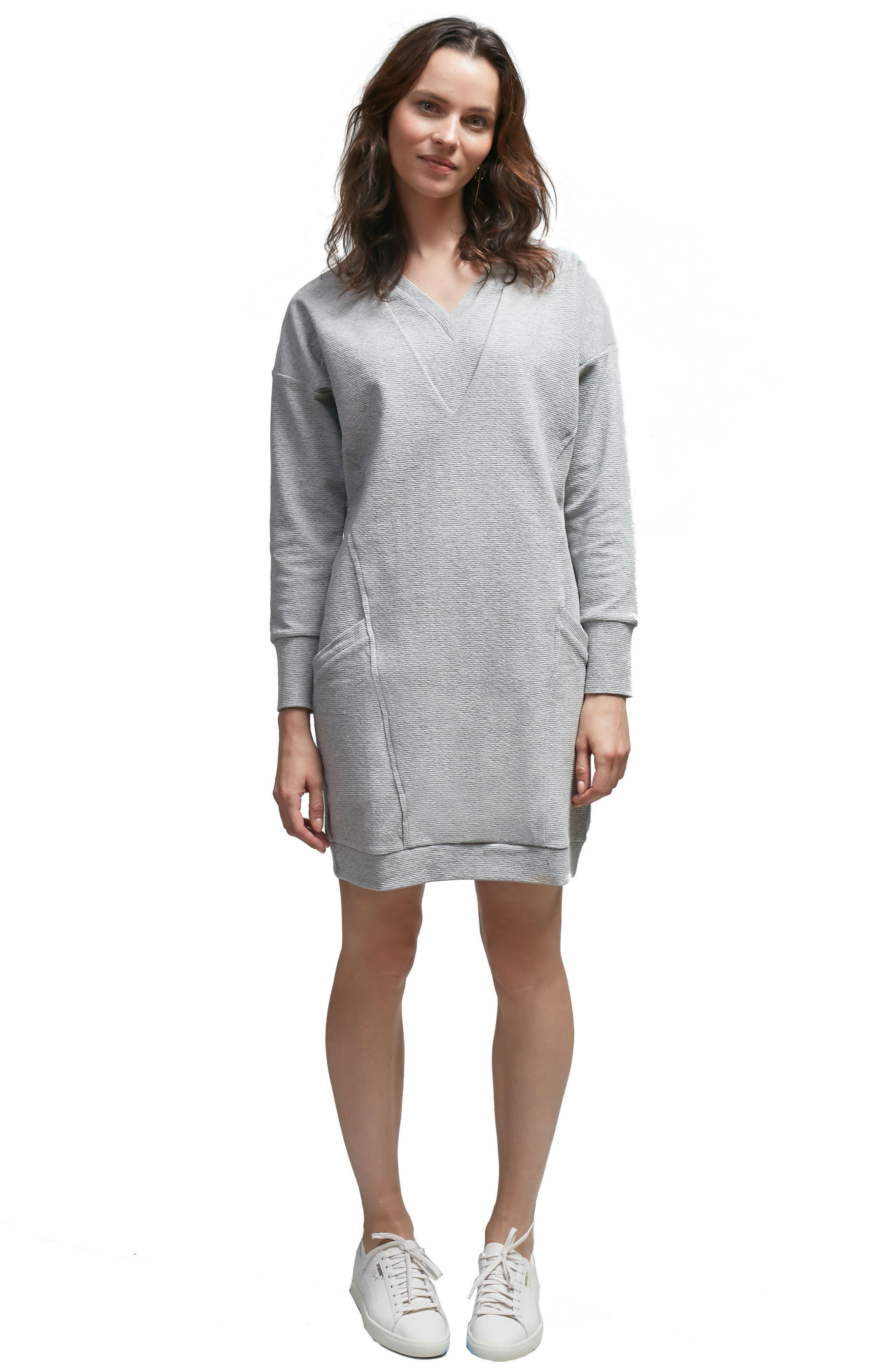 Margot Nursing Sweater Dress,                             Alternate thumbnail 5, color,                             020