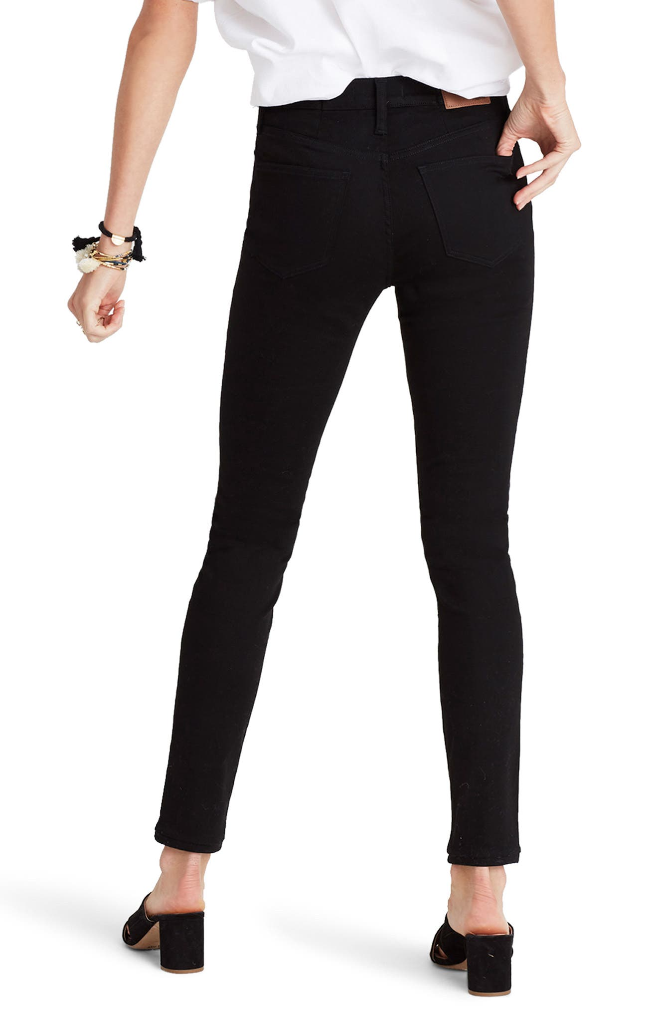 9-Inch High Waist Skinny Jeans,                             Alternate thumbnail 2, color,                             BLACK FROST