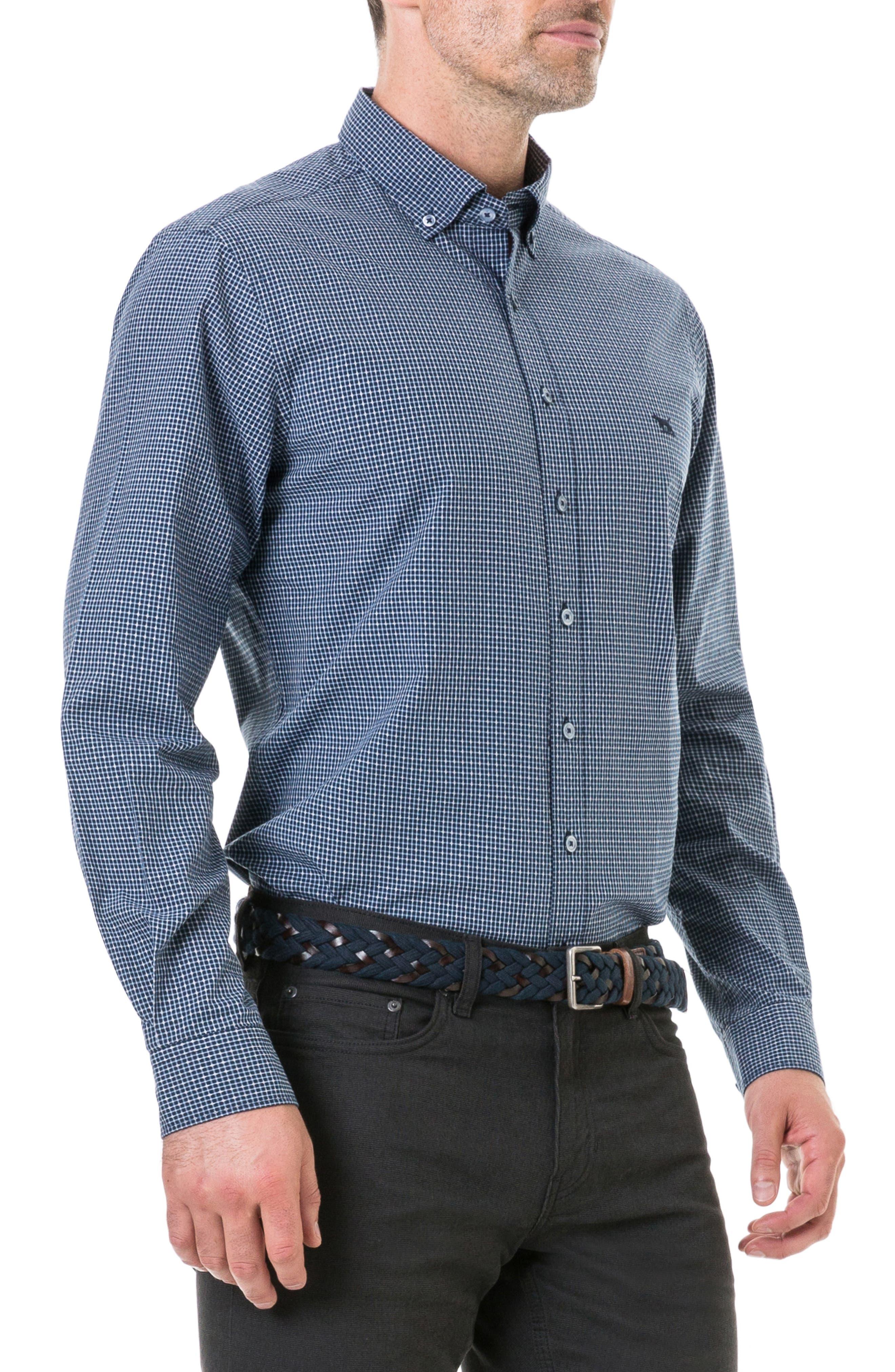 Wingrove Regular Fit Sport Shirt,                             Alternate thumbnail 3, color,                             MIDNIGHT