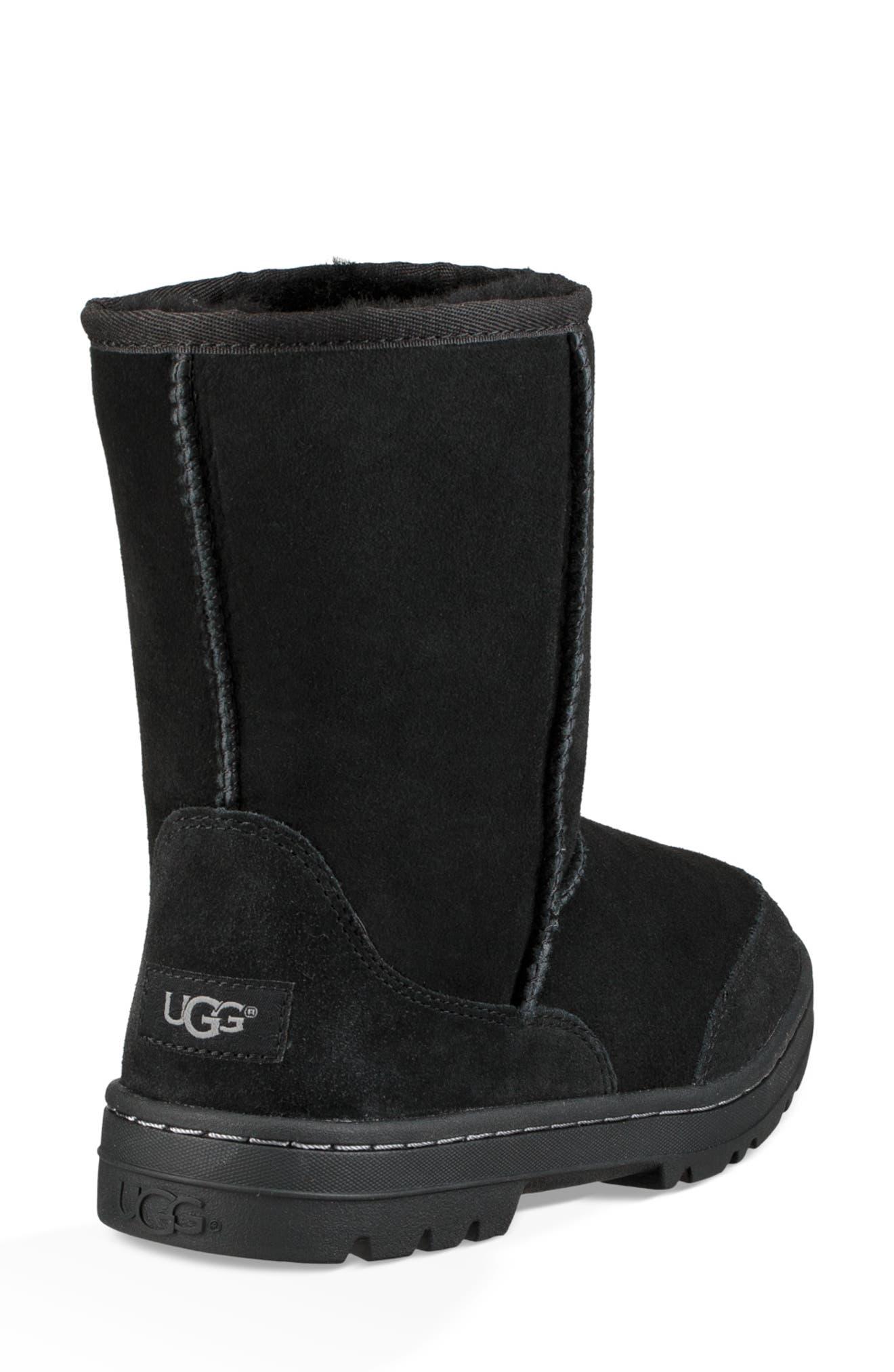 Ultra Revival Genuine Shearling Short Boot,                             Alternate thumbnail 3, color,                             BLACK