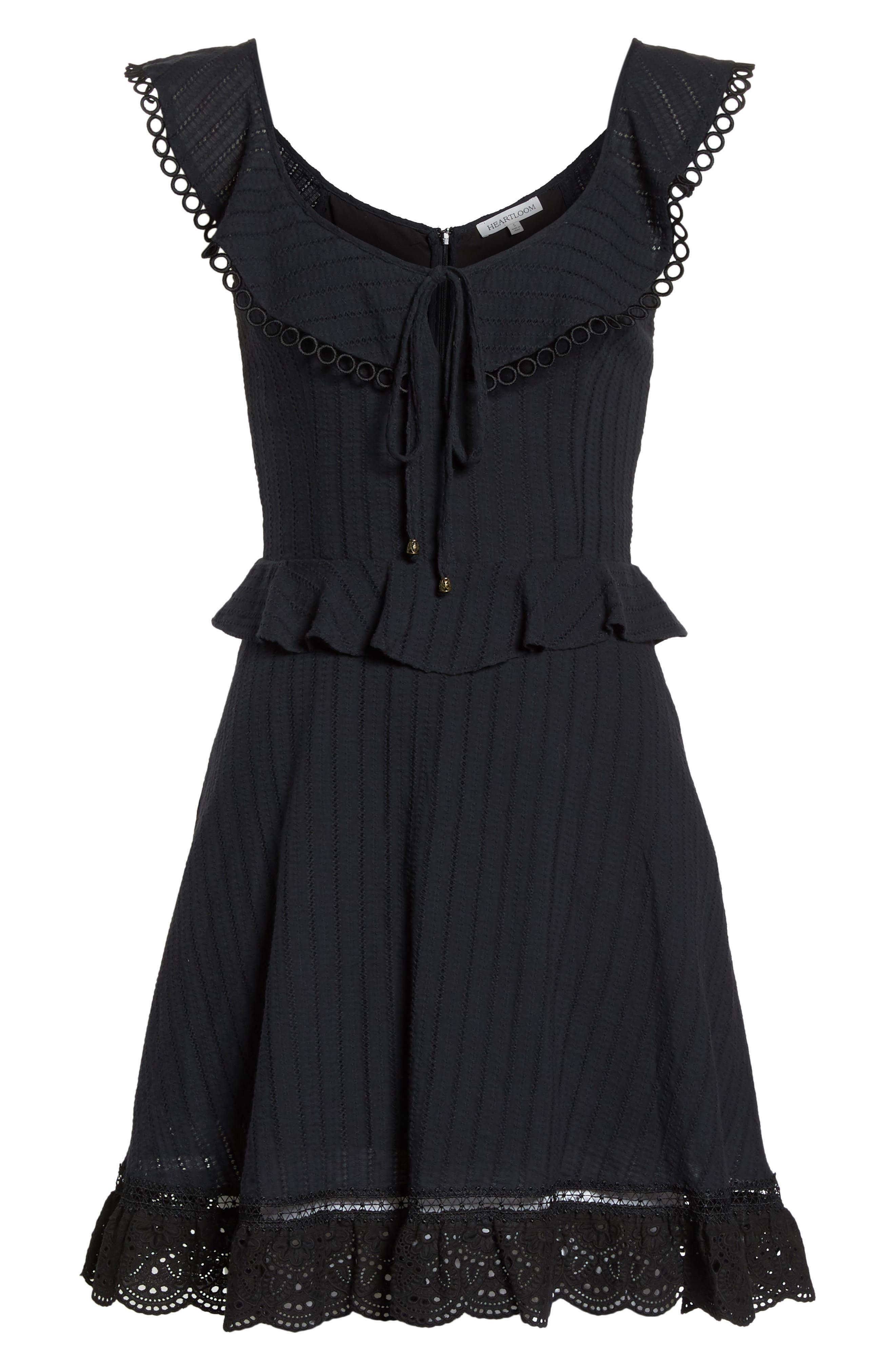 Kasey Peplum Fit & Flare Dress,                             Alternate thumbnail 7, color,