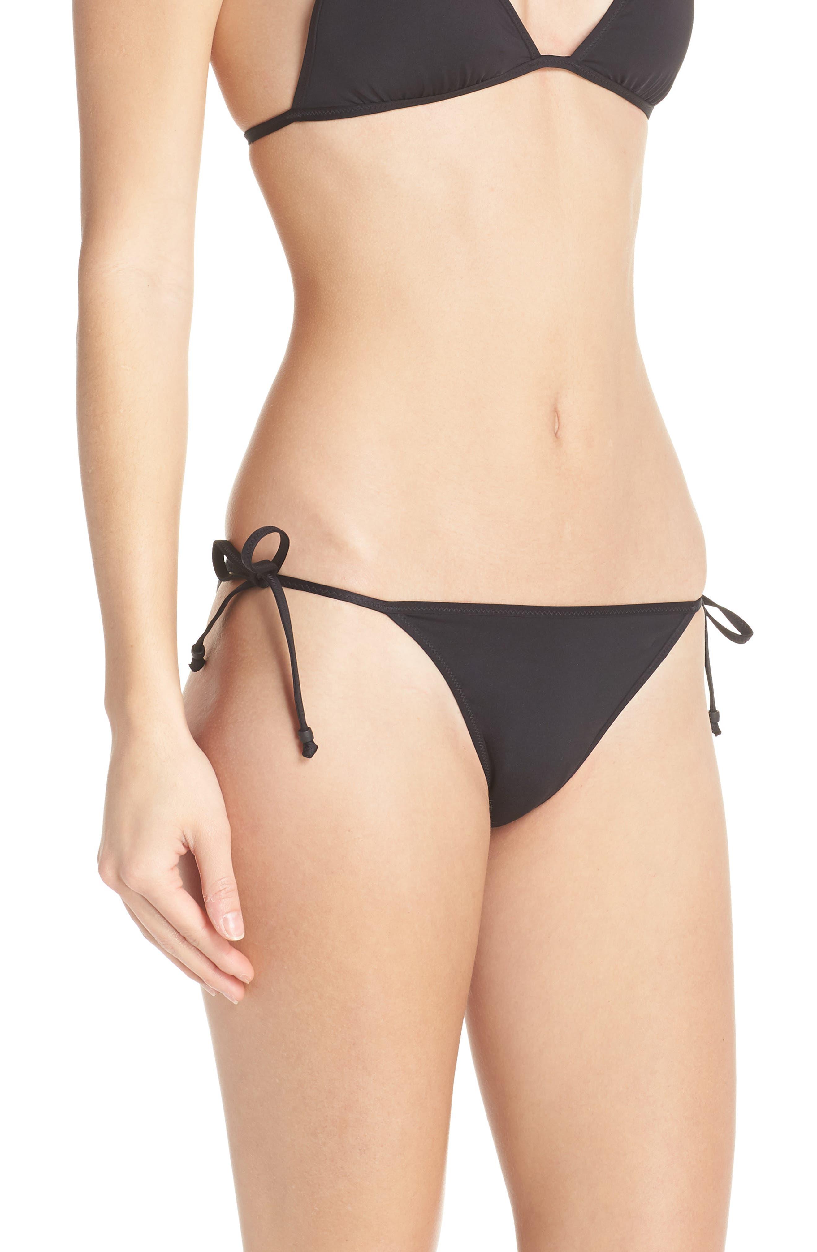 Playa Miami String Bikini Bottoms,                             Alternate thumbnail 3, color,                             001