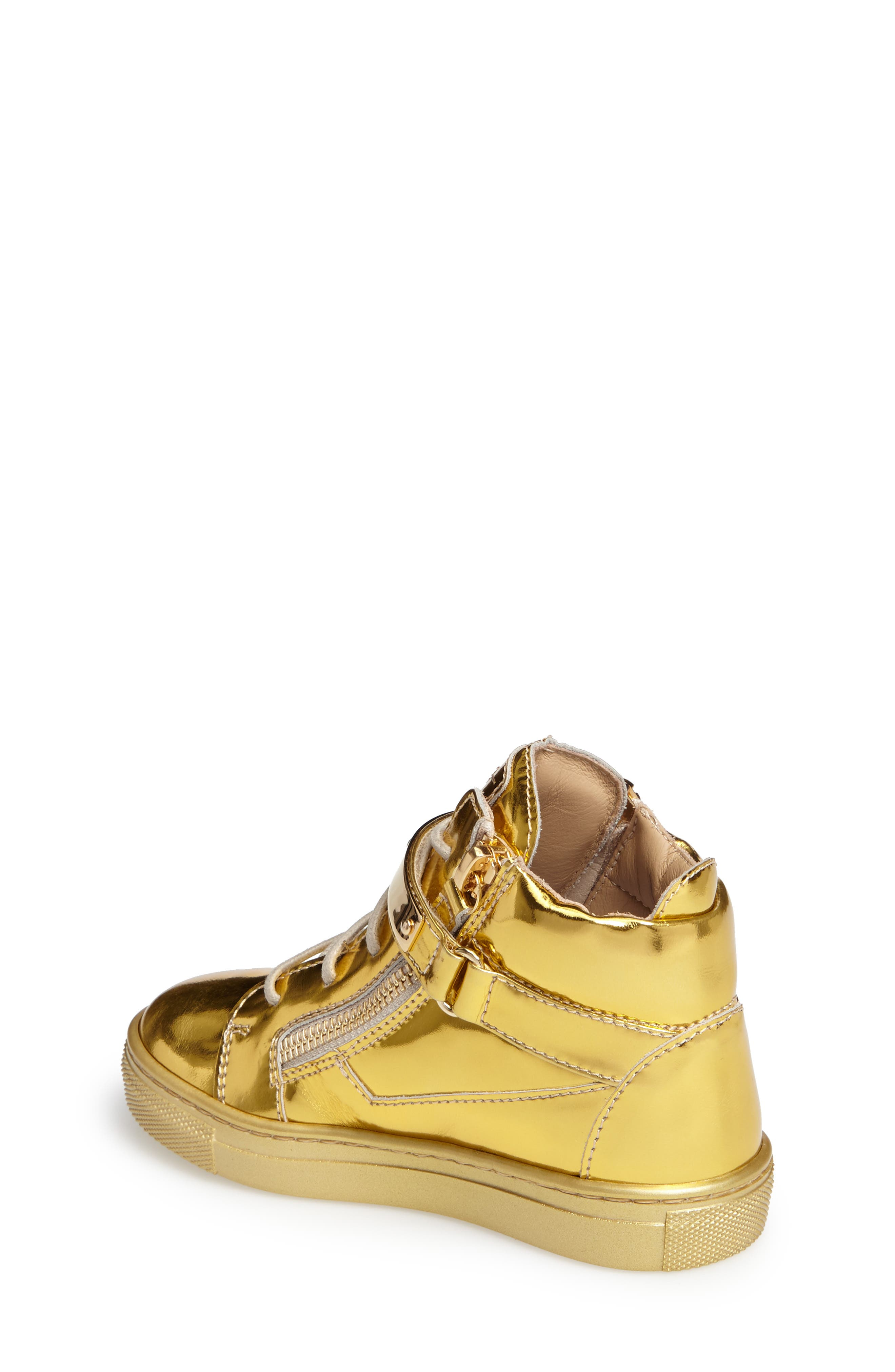 High Top Sneaker,                             Alternate thumbnail 2, color,                             GOLD
