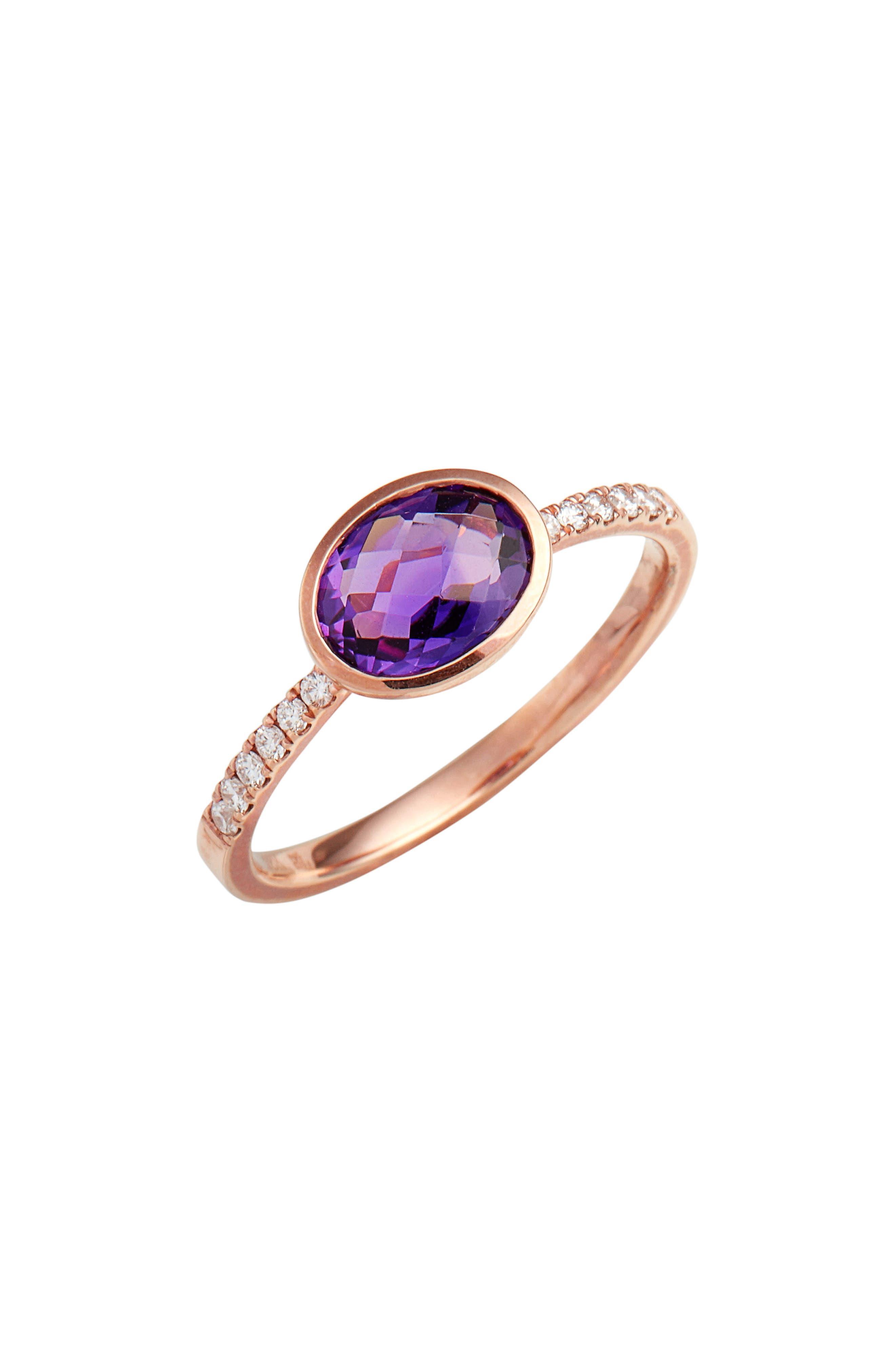 Iris Semiprecious Stone & Diamond Ring,                             Main thumbnail 2, color,